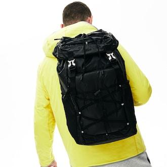 라코스테 플랩 나일론 백팩 Lacoste Mens Altitude Drawstring Flap Nylon Backpack