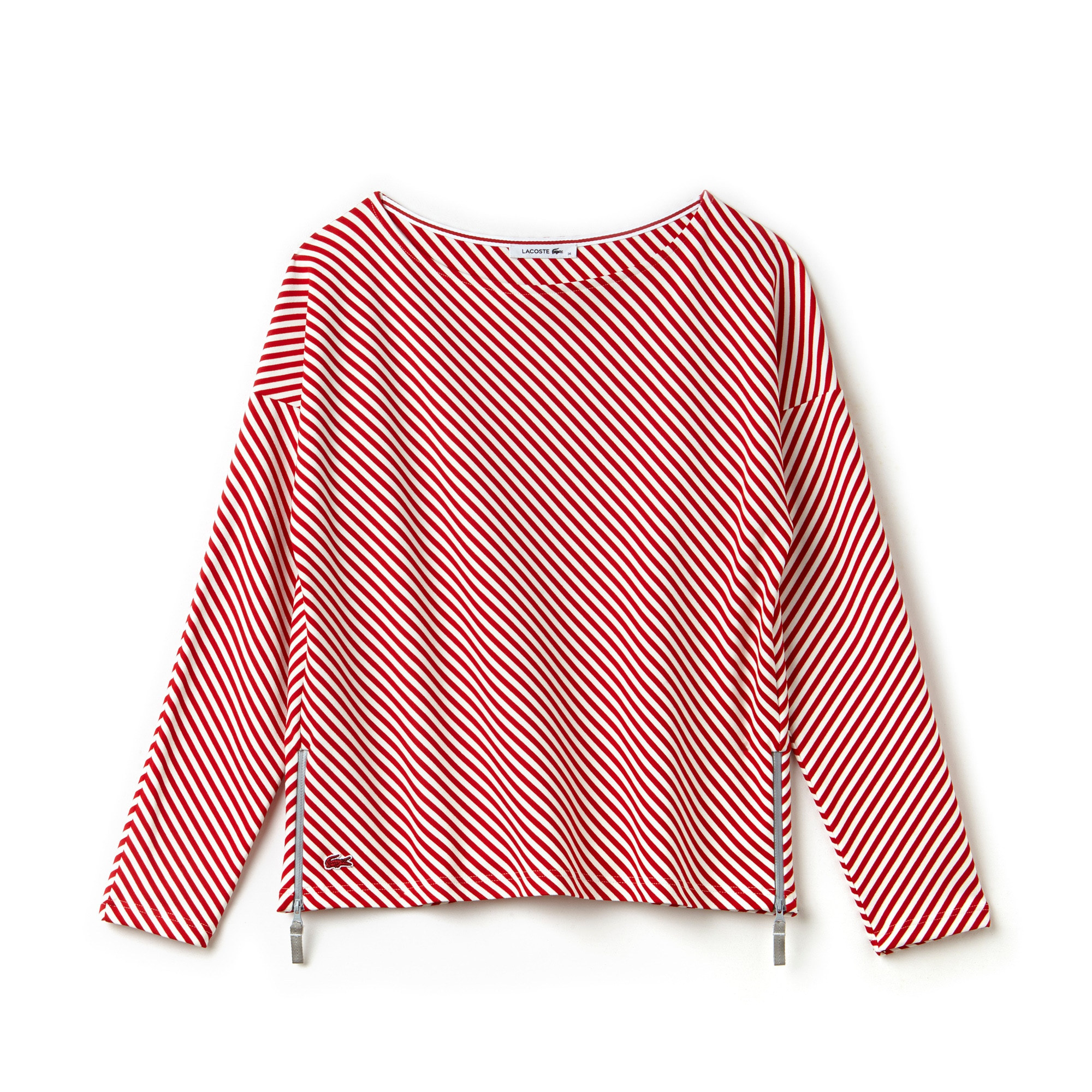 Women's Nautical Striped Jacquard Crew Neck Sweatshirt