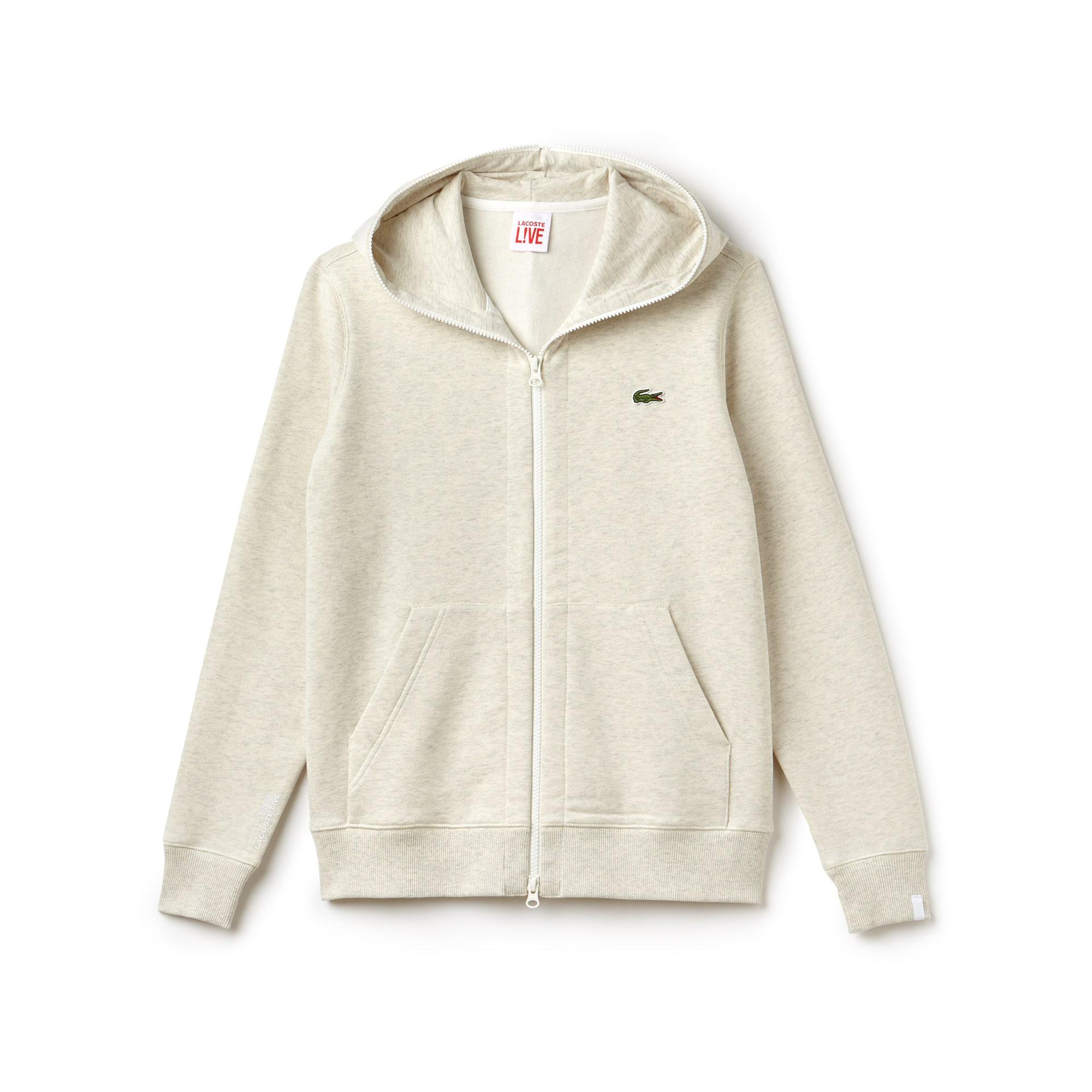 Unisex  LIVE Hooded Zippered Cotton Sweatshirt