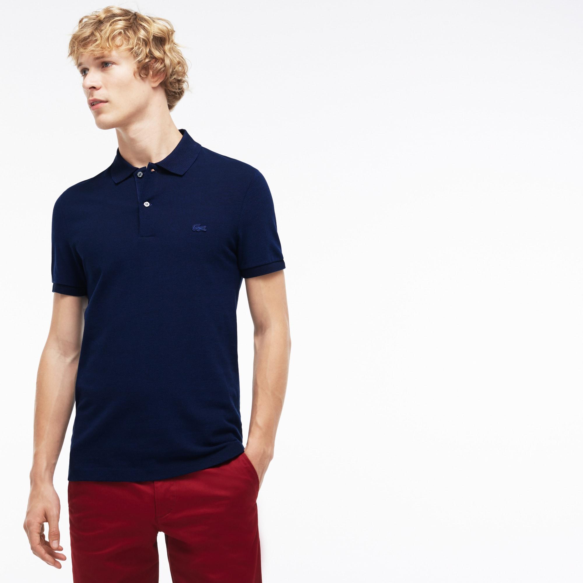 Men's  Slim Fit Bicolor Caviar Piqué Polo