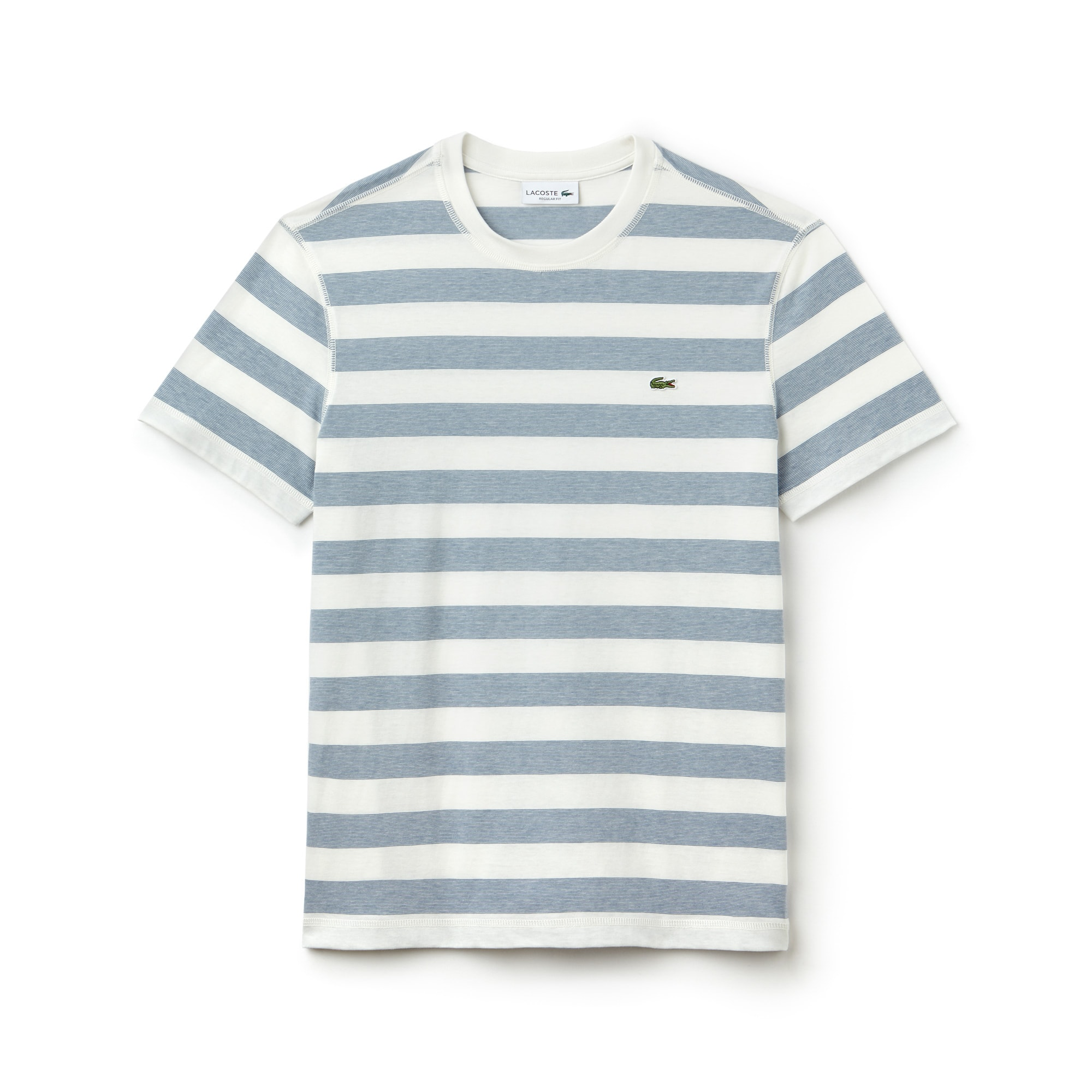 6a1ec915b Men s Crew Neck Striped Cotton T-Shirt