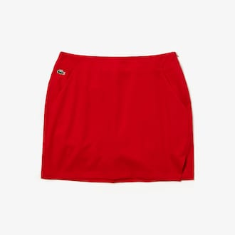 라코스테 우먼 스포츠 골프 스커트 Lacoste Womens SPORT Built-In Shorts Stretch Golf Skirt
