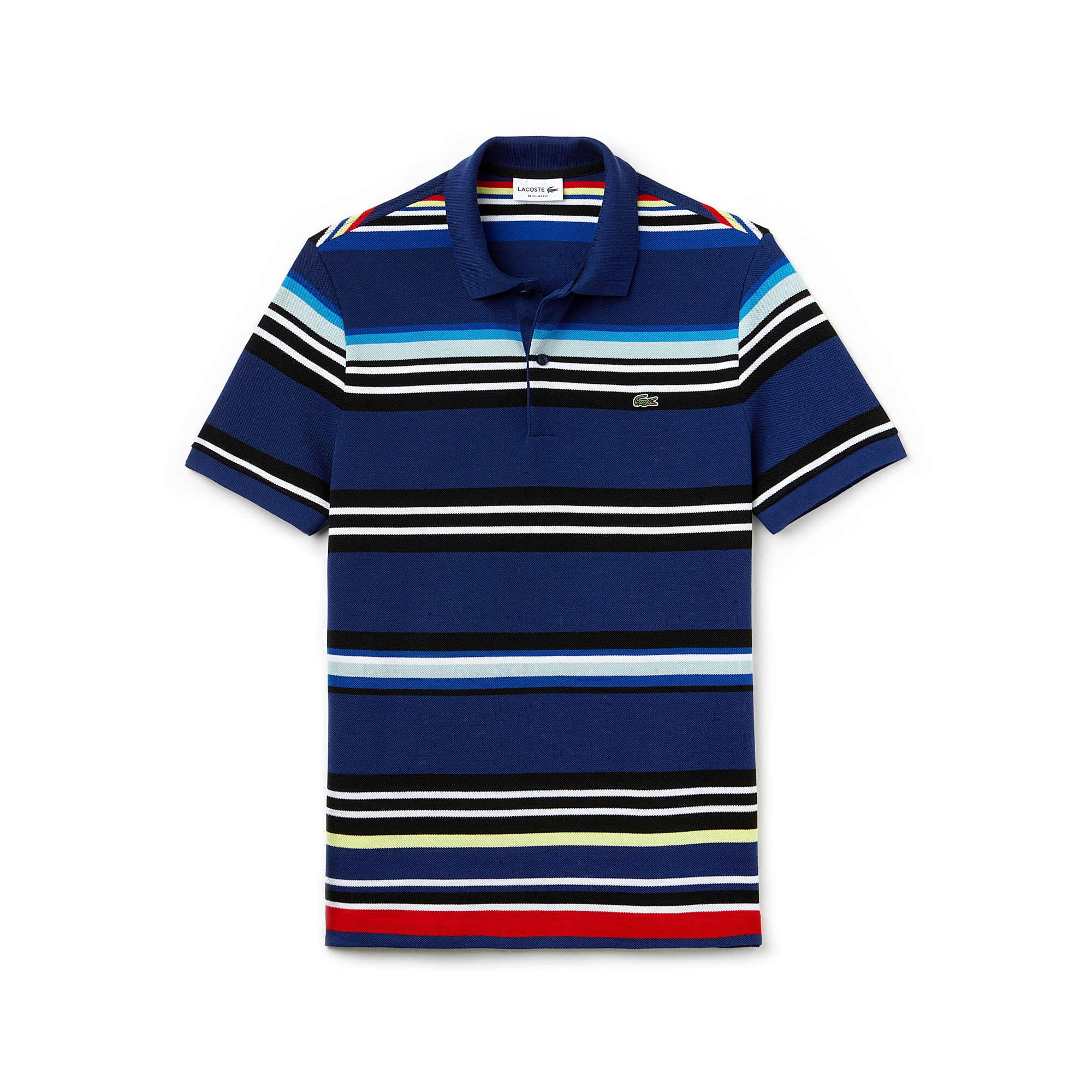 Men's  Regular Fit Flecked Colored Stripe Piqué Polo