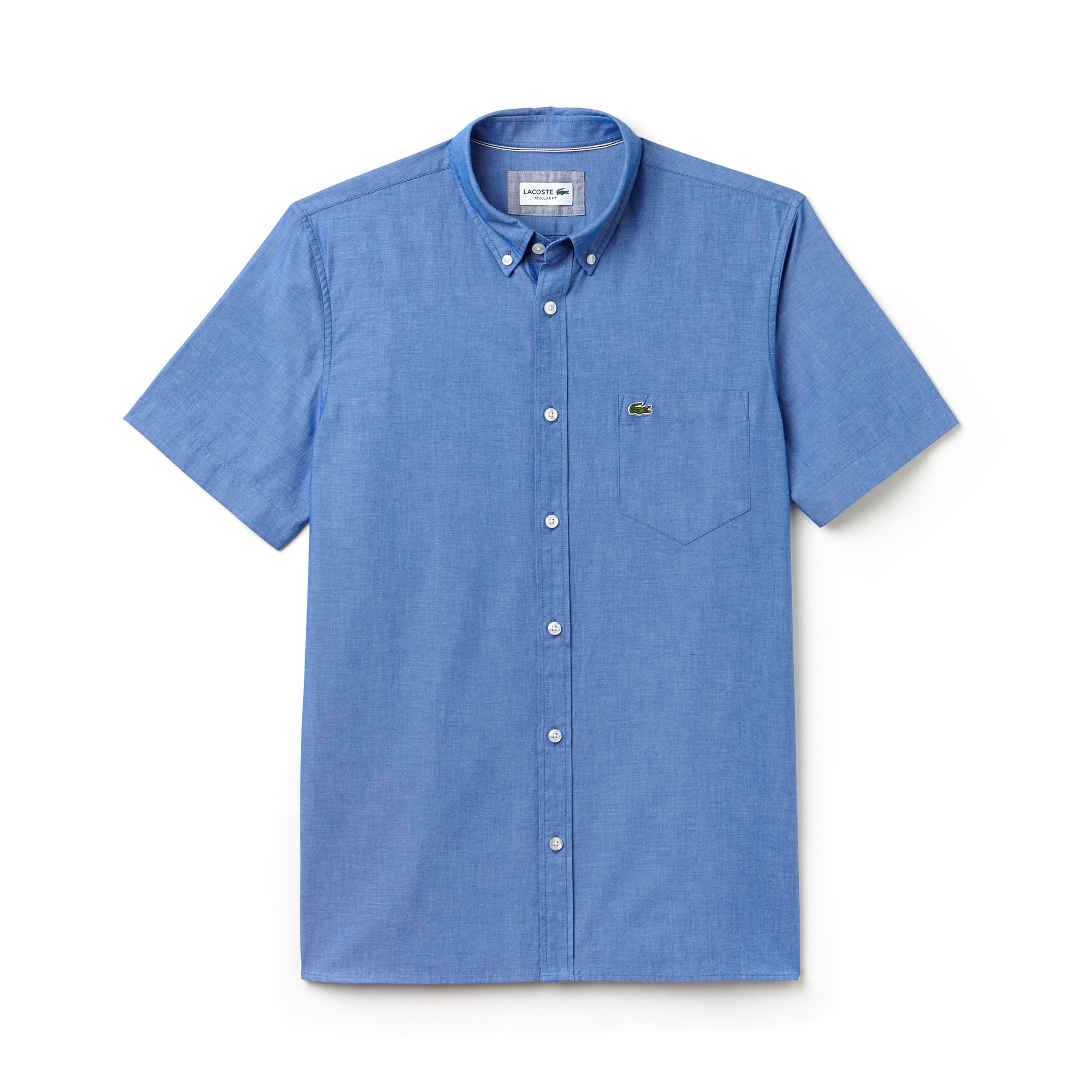 Men's Regular Fit Cotton Chambray Shirt