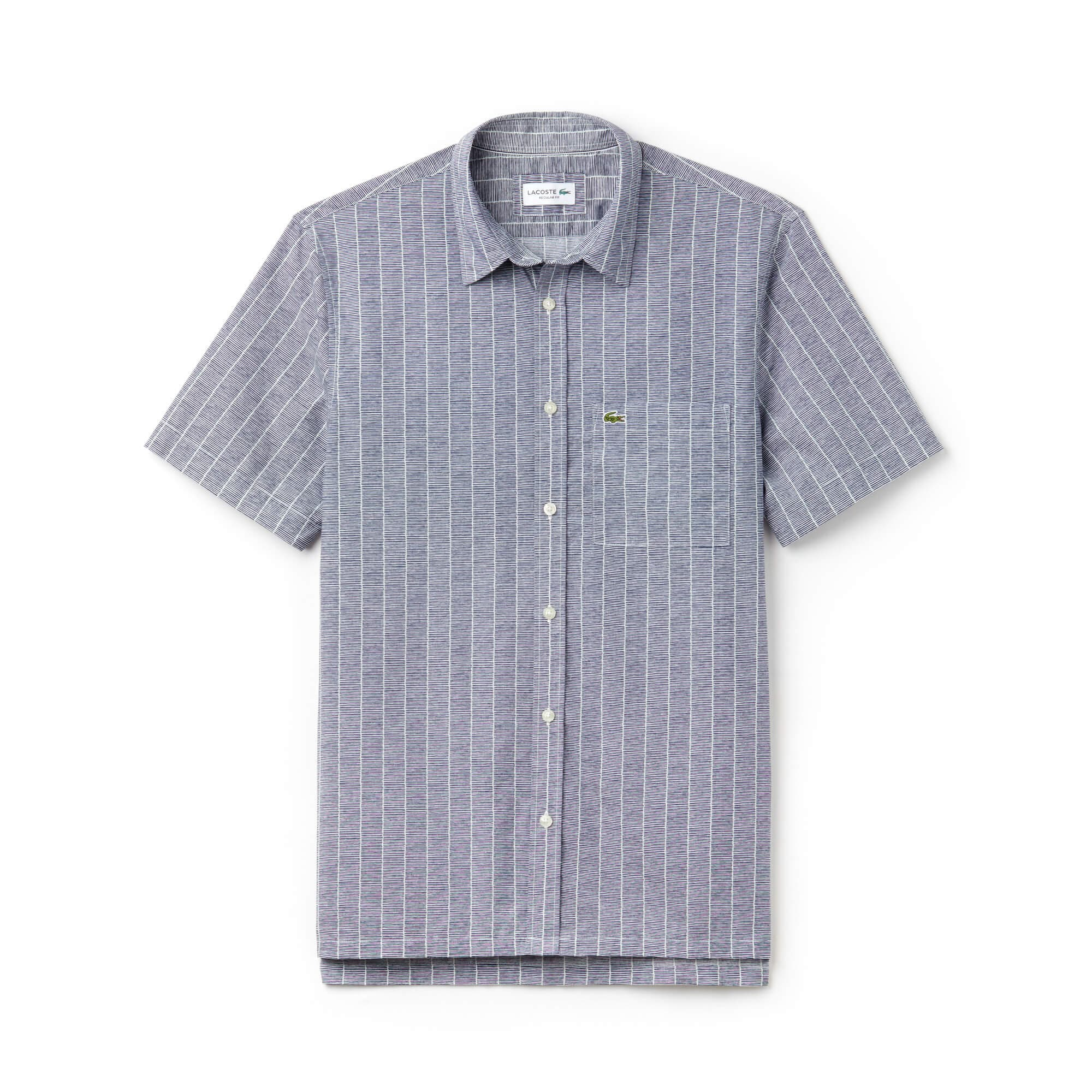 Men's Relaxed Fit Print Poplin Shirt