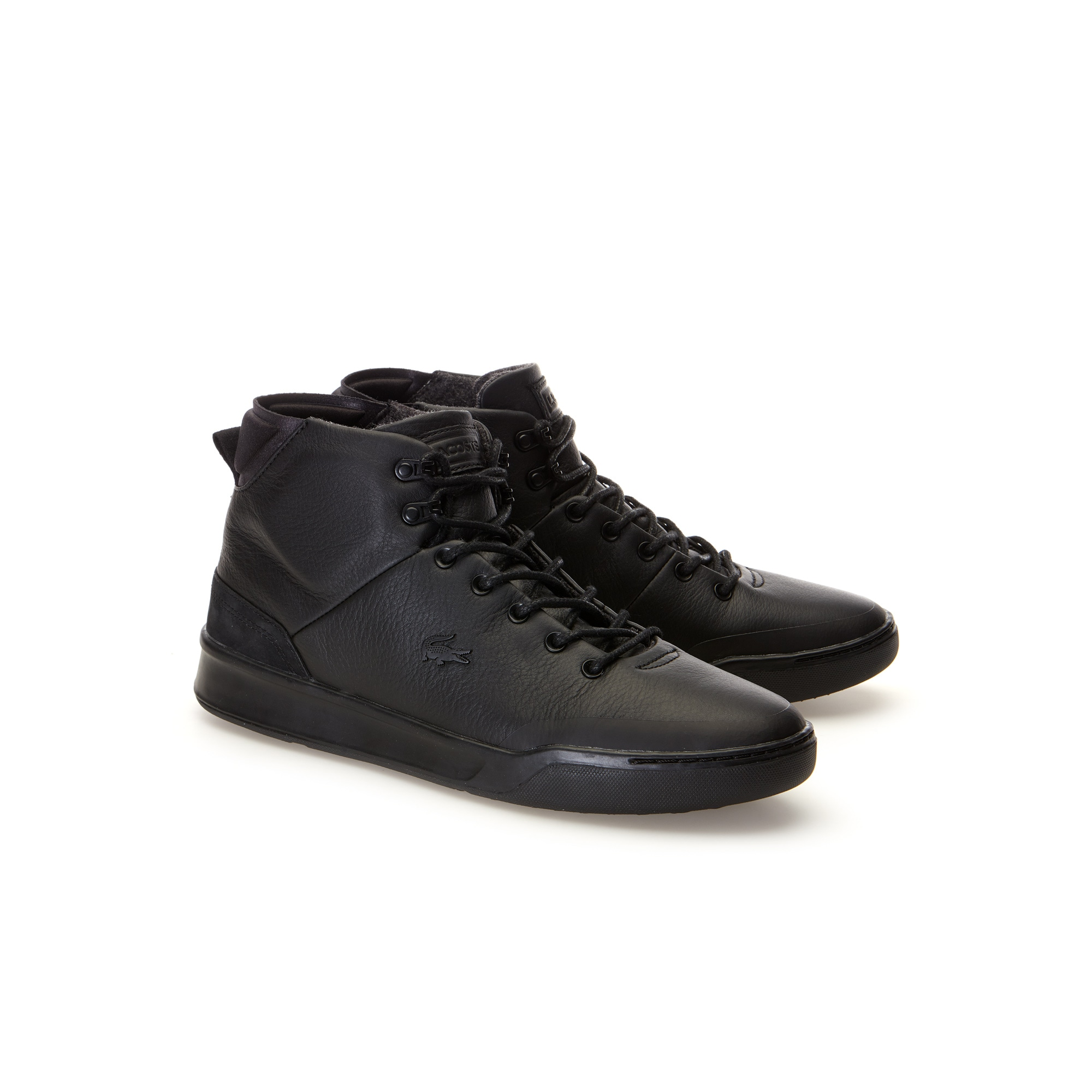 Men S Explorateur Classic Black Tumbled High Top Leather Trainers