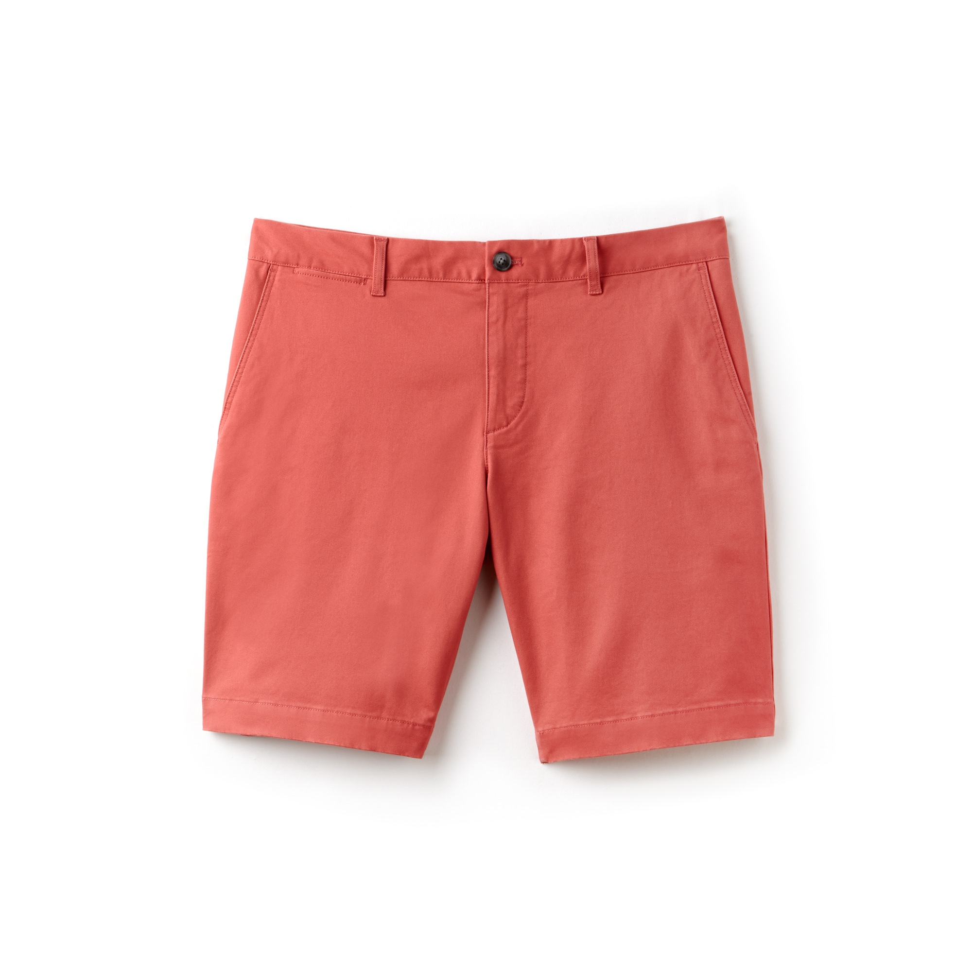 라코스테 반바지 Lacoste Mens Slim Fit Stretch Bermuda Shorts,sierra red