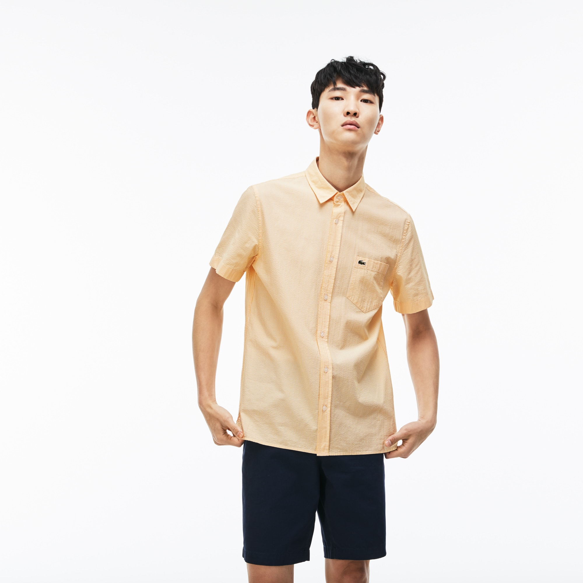Men's Regular Fit Seersucker Shirt