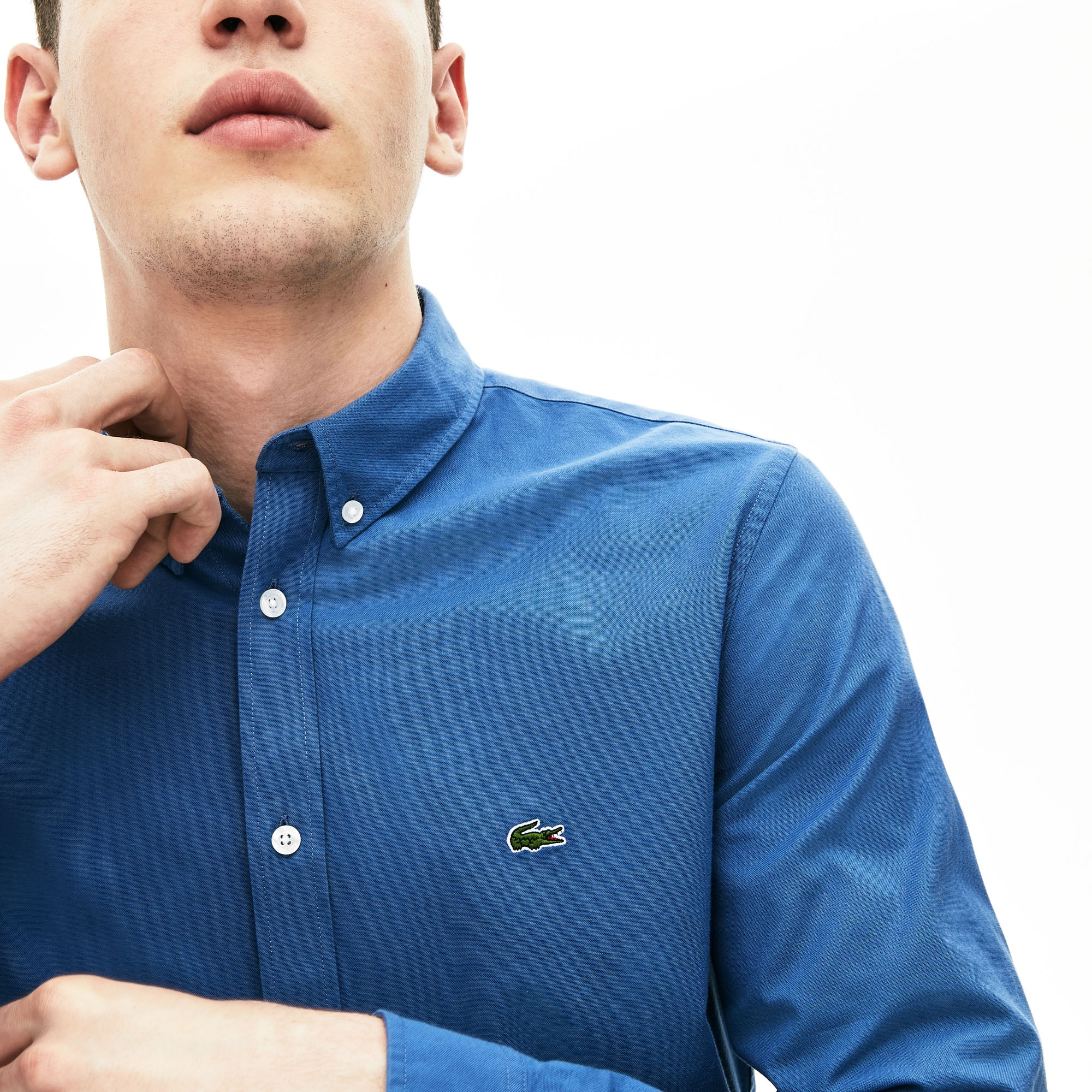 Men's Slim Fit Stretch Cotton Shirt