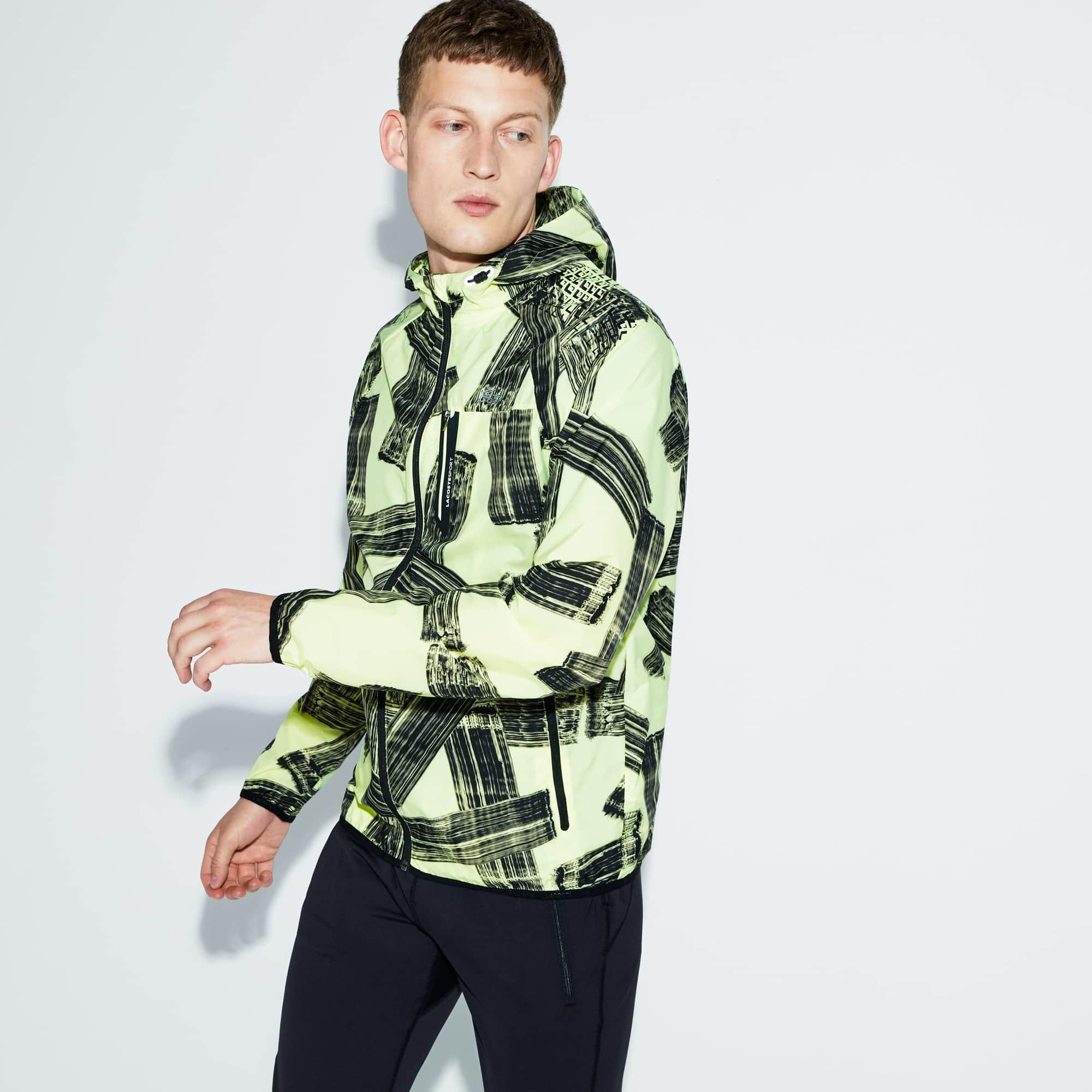 Lacoste Jackets Men's SPORT Hooded Print Tennis Jacket