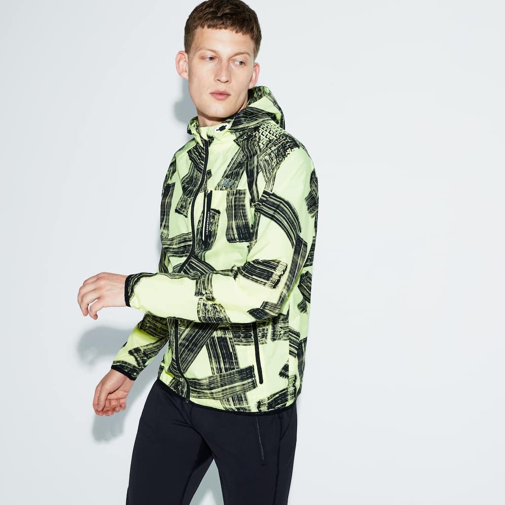 7c984d886 Men s SPORT Hooded Print Tennis Jacket