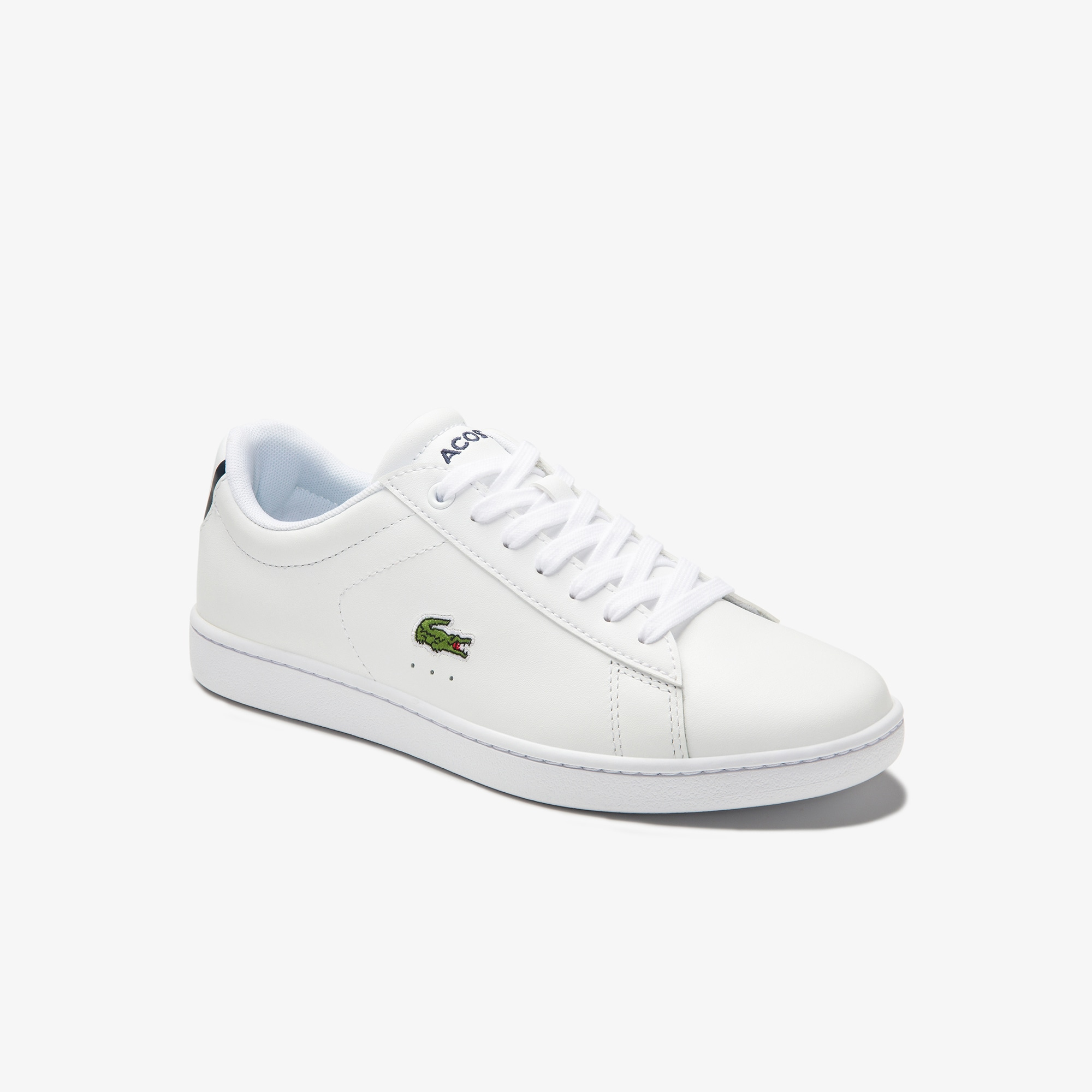 Lacoste WOMEN'S CARNABY EVO MESH-LINED LEATHER SNEAKERS