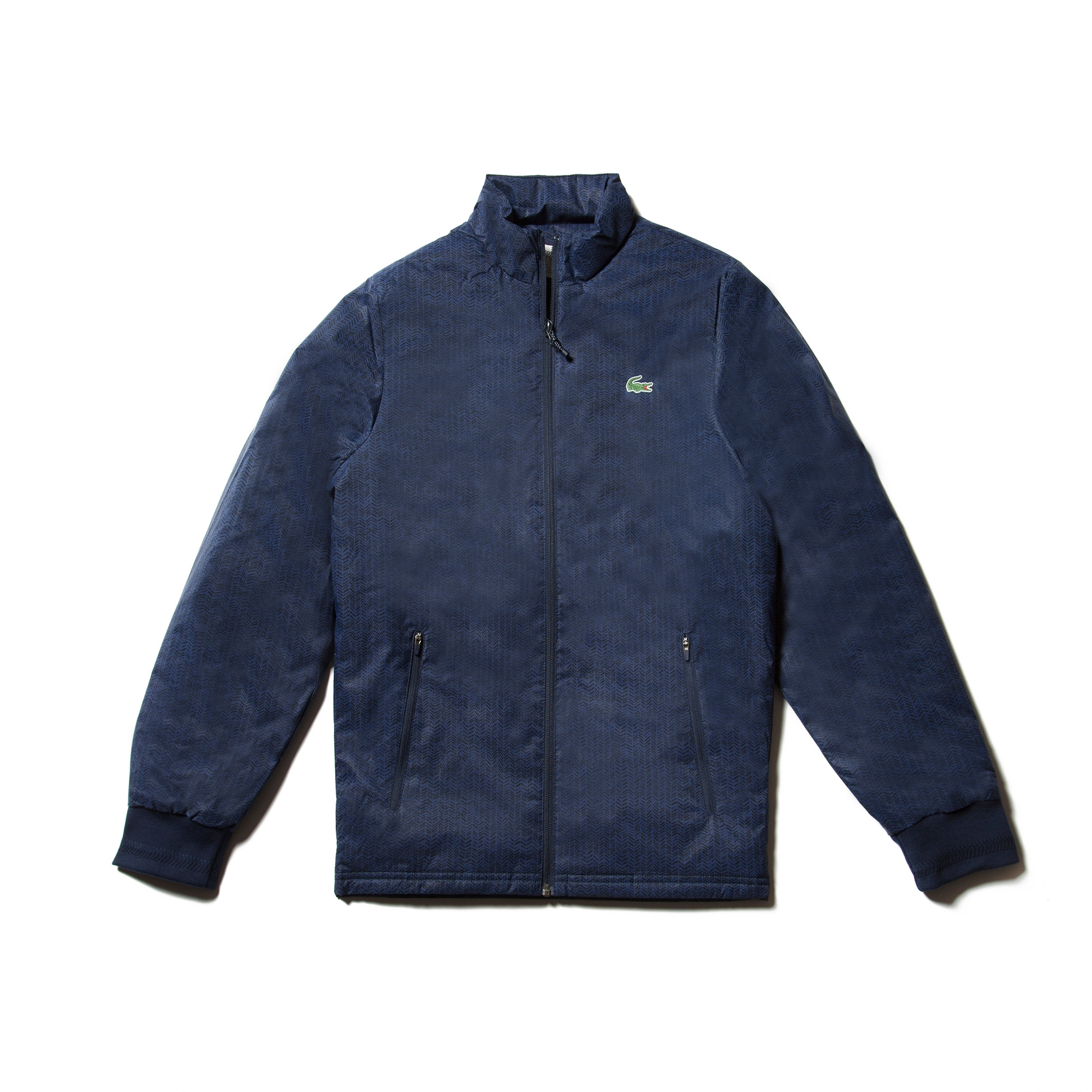 Men's SPORT Golf Herringbone Print Zip Jacket