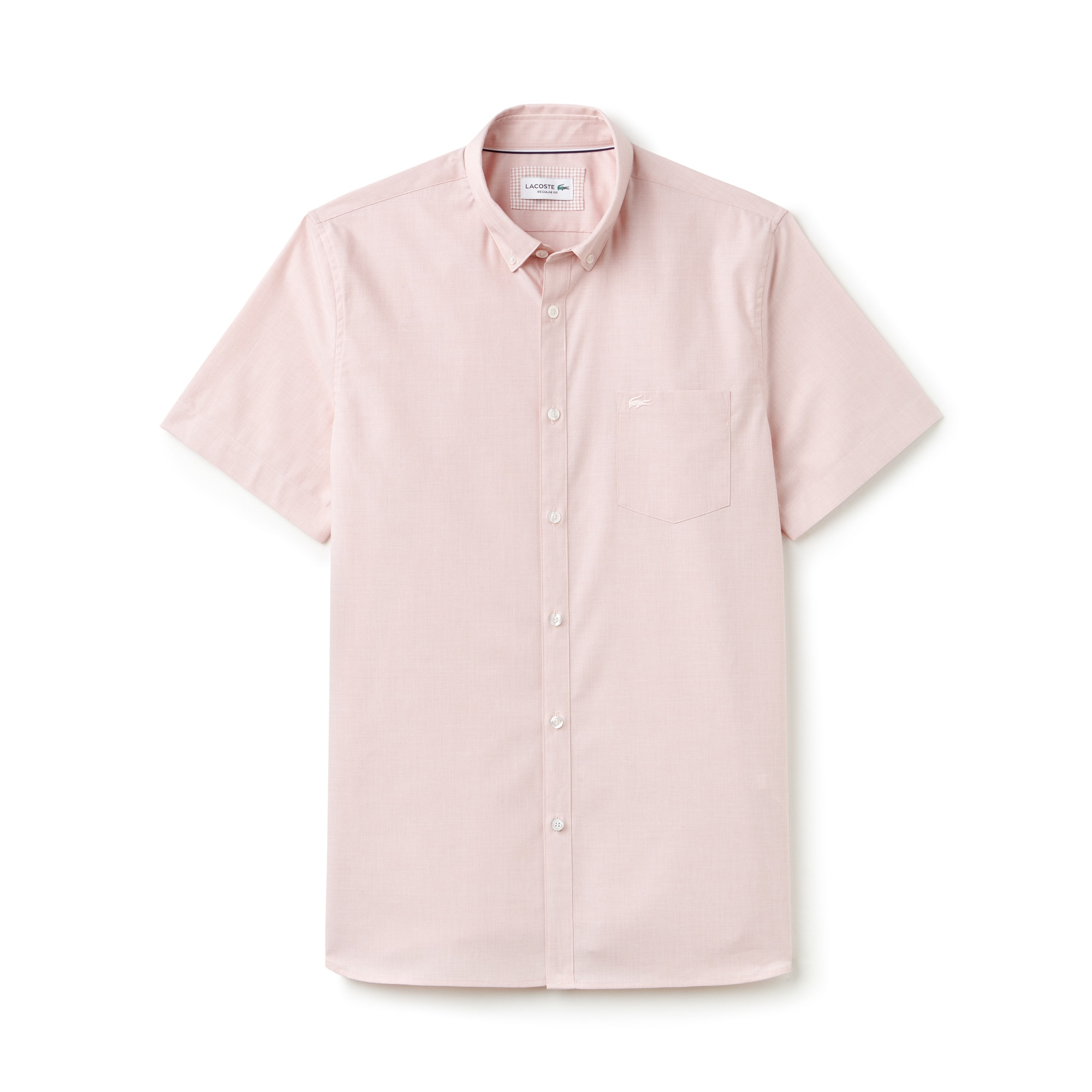 Men's Regular Fit Salt And Pepper Cotton Shirt