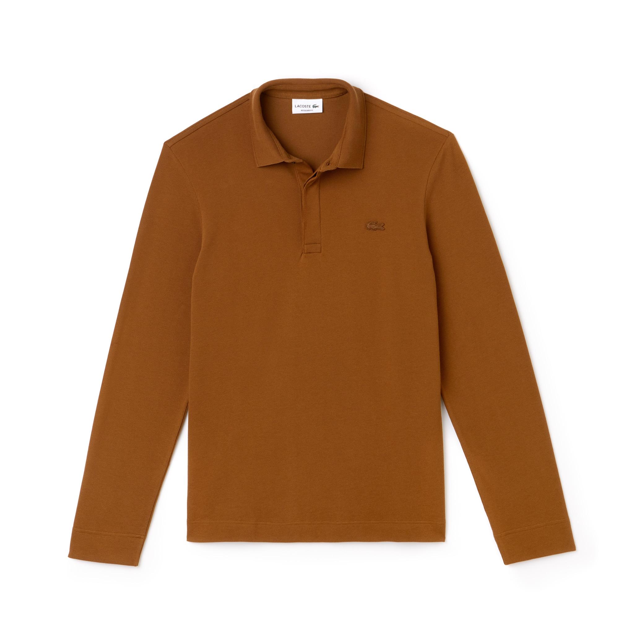 Men's Long-sleeve Paris Polo Regular Fit Stretch Cotton Piqué