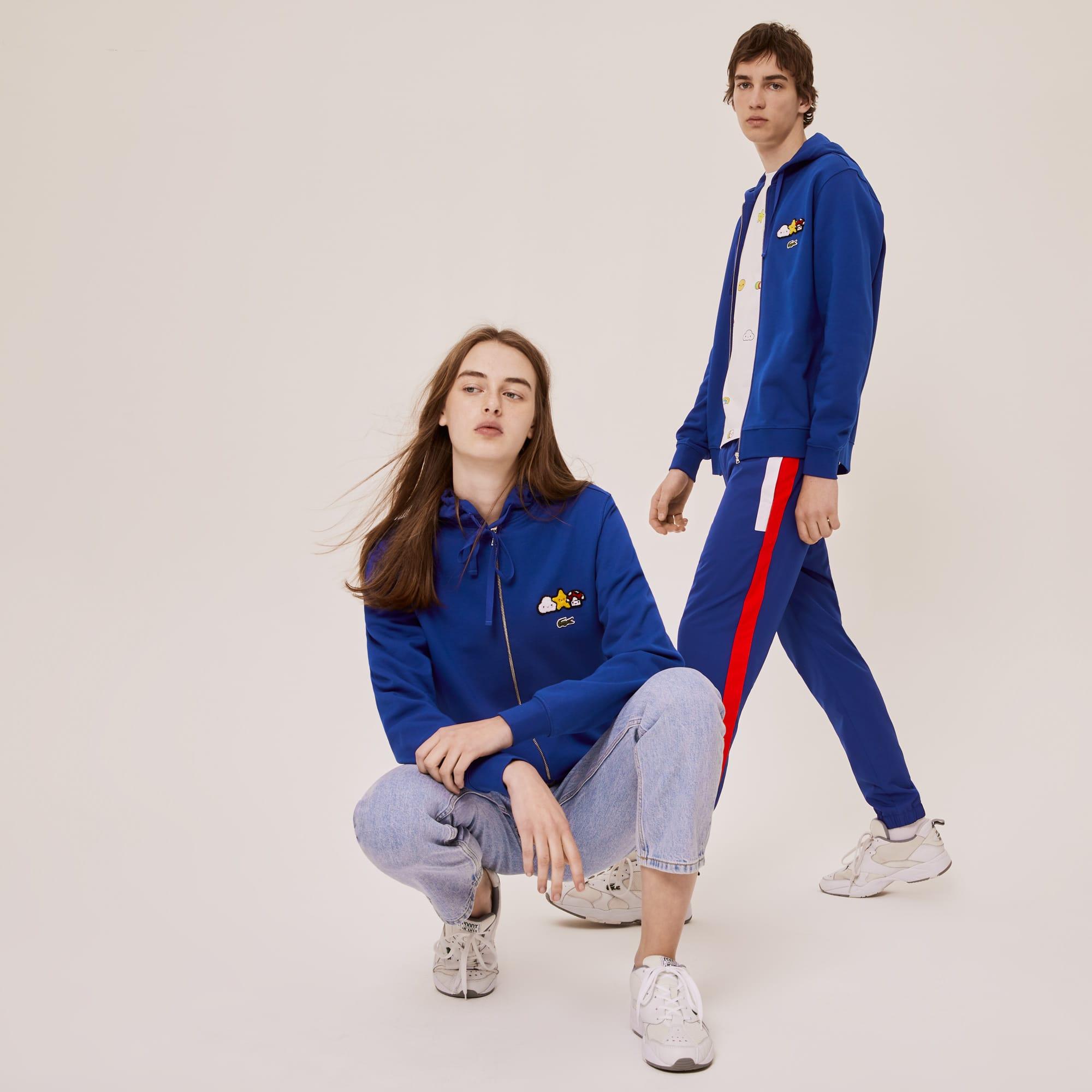 Unisex 라코스테 Lacoste x FriendsWithYou Design Zippered Jacket,Blue BDM