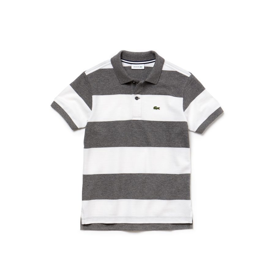 Boys' Striped Cotton Petit Piqué Polo Shirt