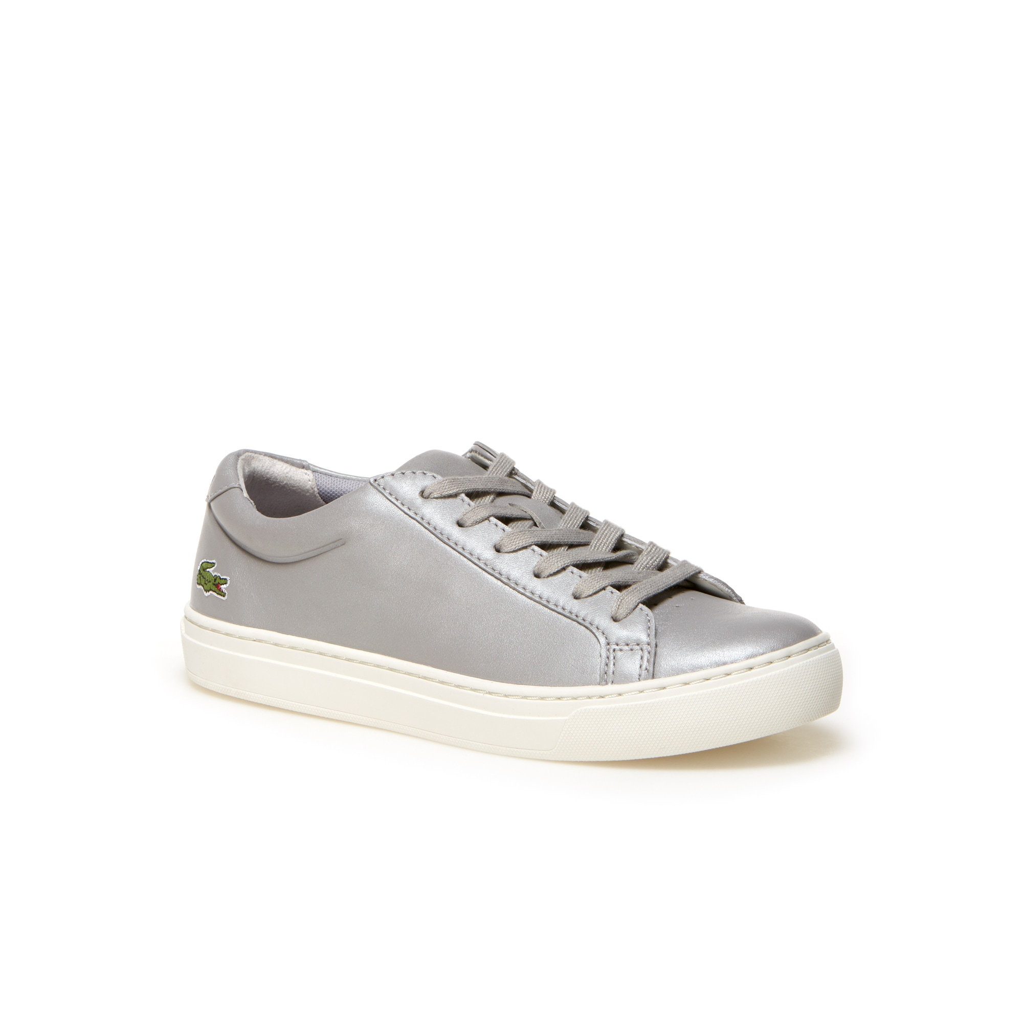 Women'S L.12.12 Leather Sneakers in Grey from Lacoste