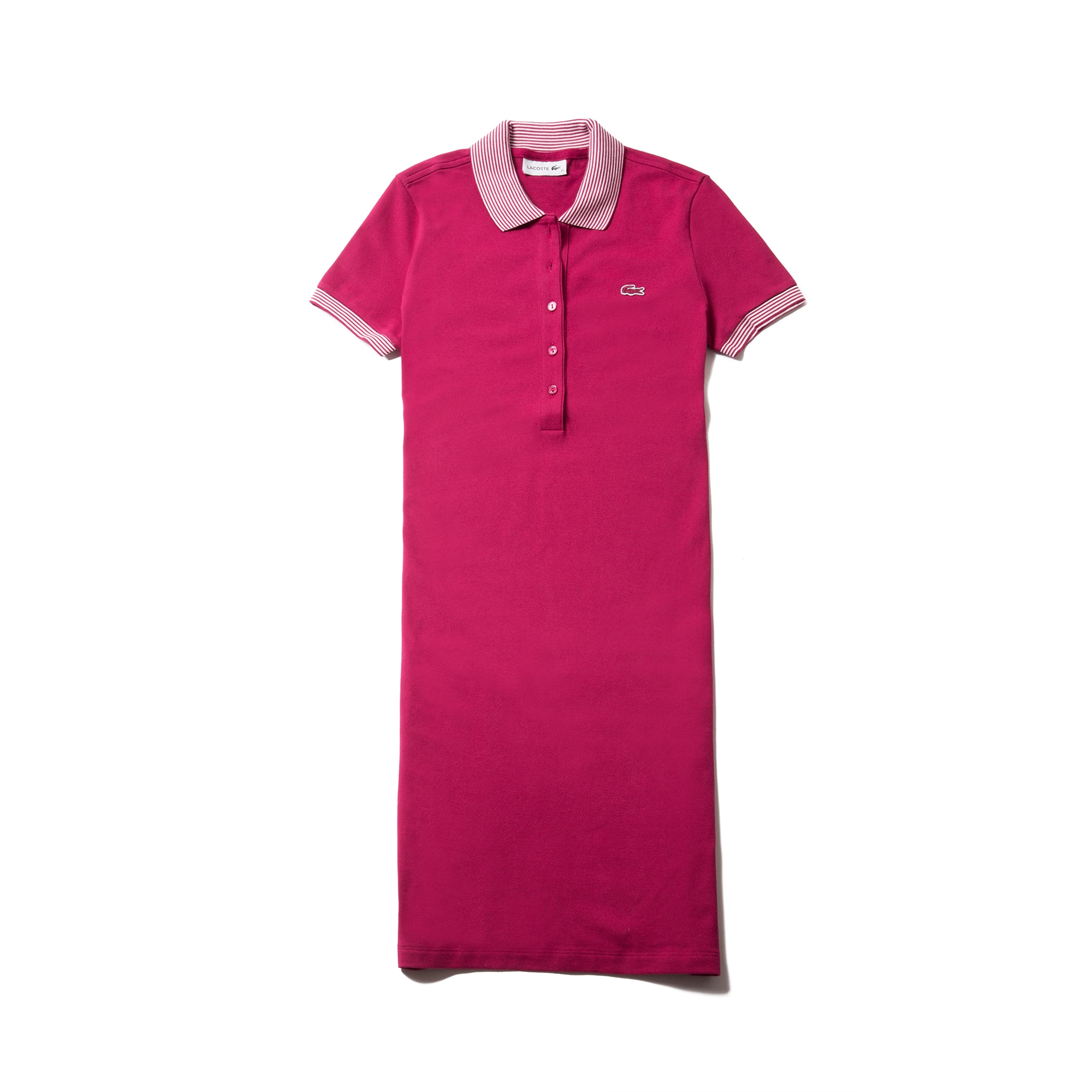 Women's Stretch Mini Cotton Piqué And Contrast Accents Polo Dress