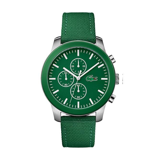 Men's Lacoste 12.12 Green Textile Strap