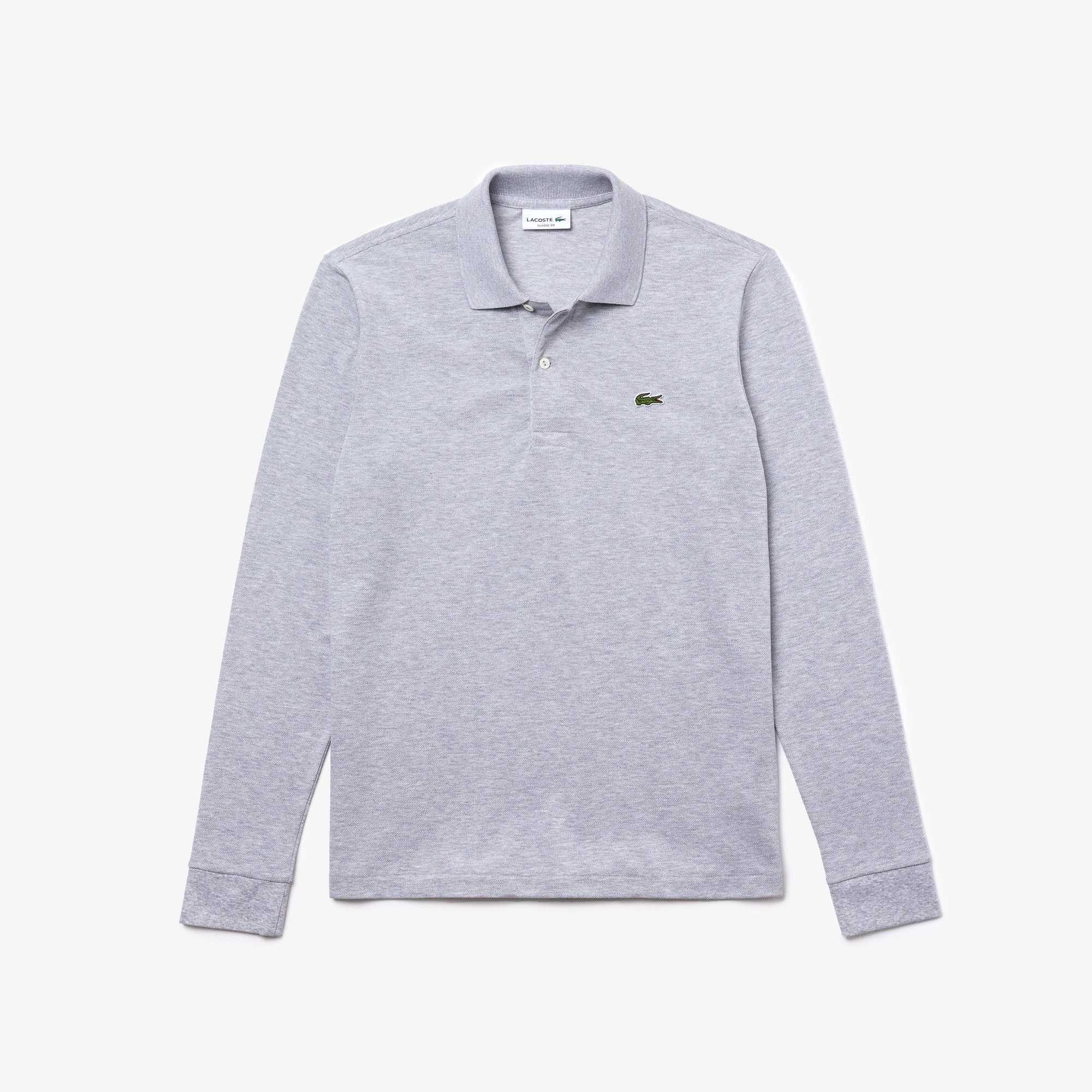 Long Sleeve Polo Piqué Fit Classic Petit Marl Shirt In ZnkN8P0wOX