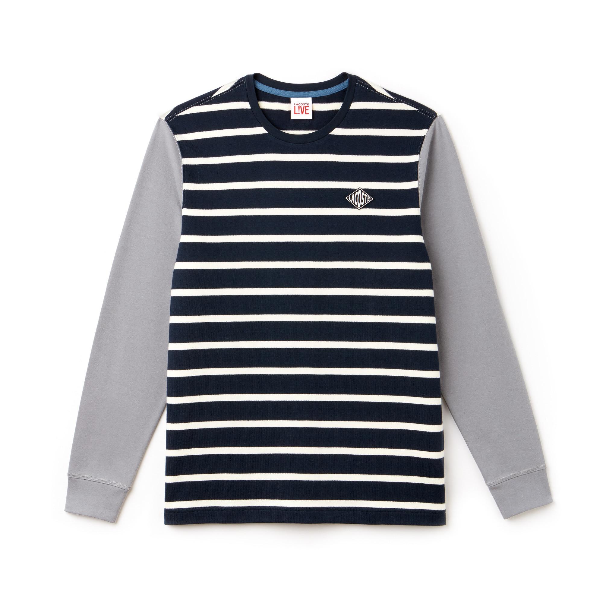 Men's LIVE Striped Cotton T-Shirt