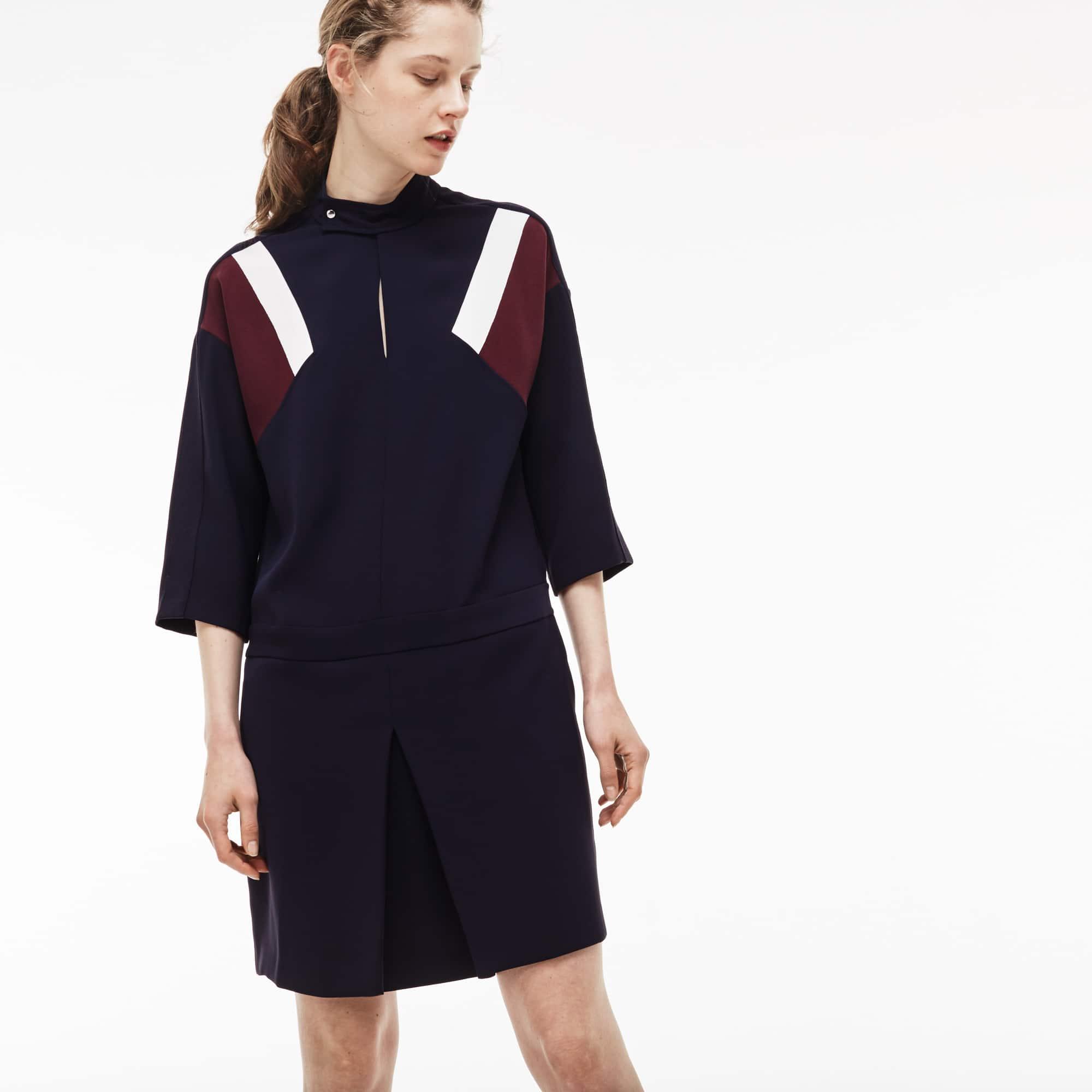 Women's Colorblock Accents Crepe Dress
