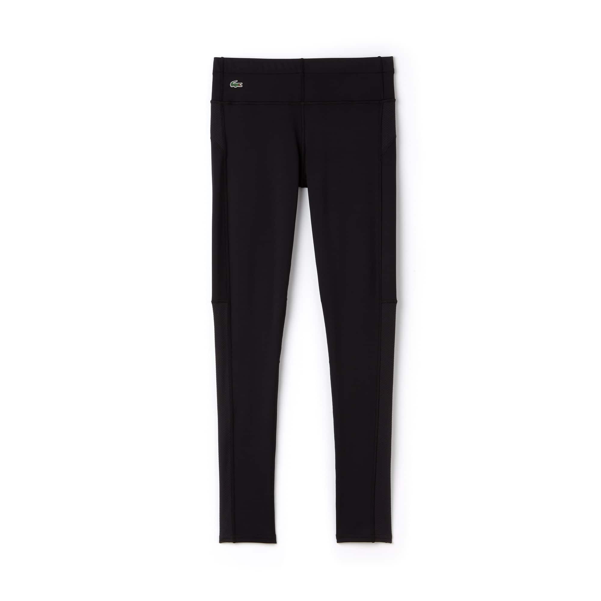 라코스테 스포츠 레깅스 Lacoste Womens SPORT Tennis Technical Jersey Leggings,BLACK/WHITE