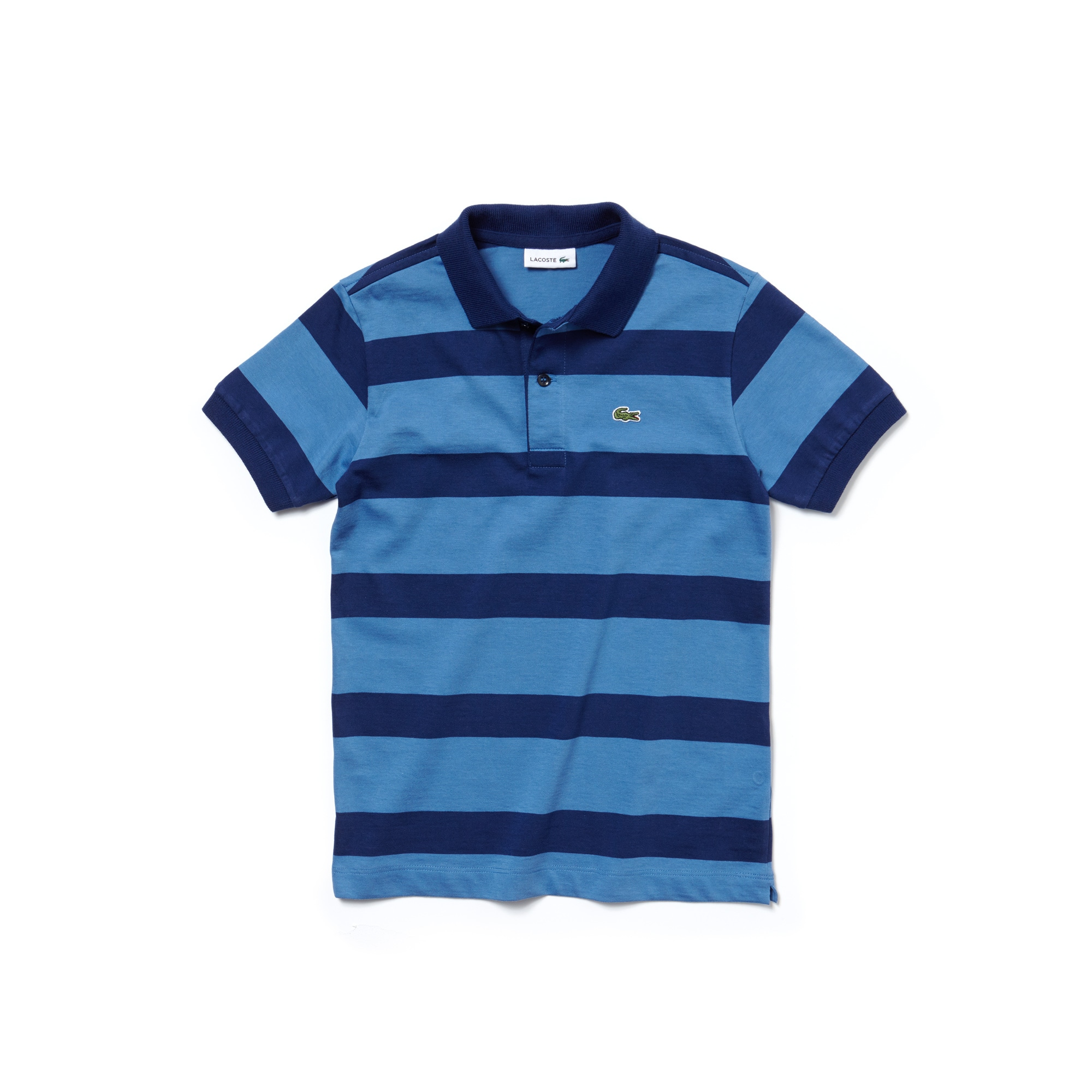 Boys'  Striped Cotton Jersey Polo