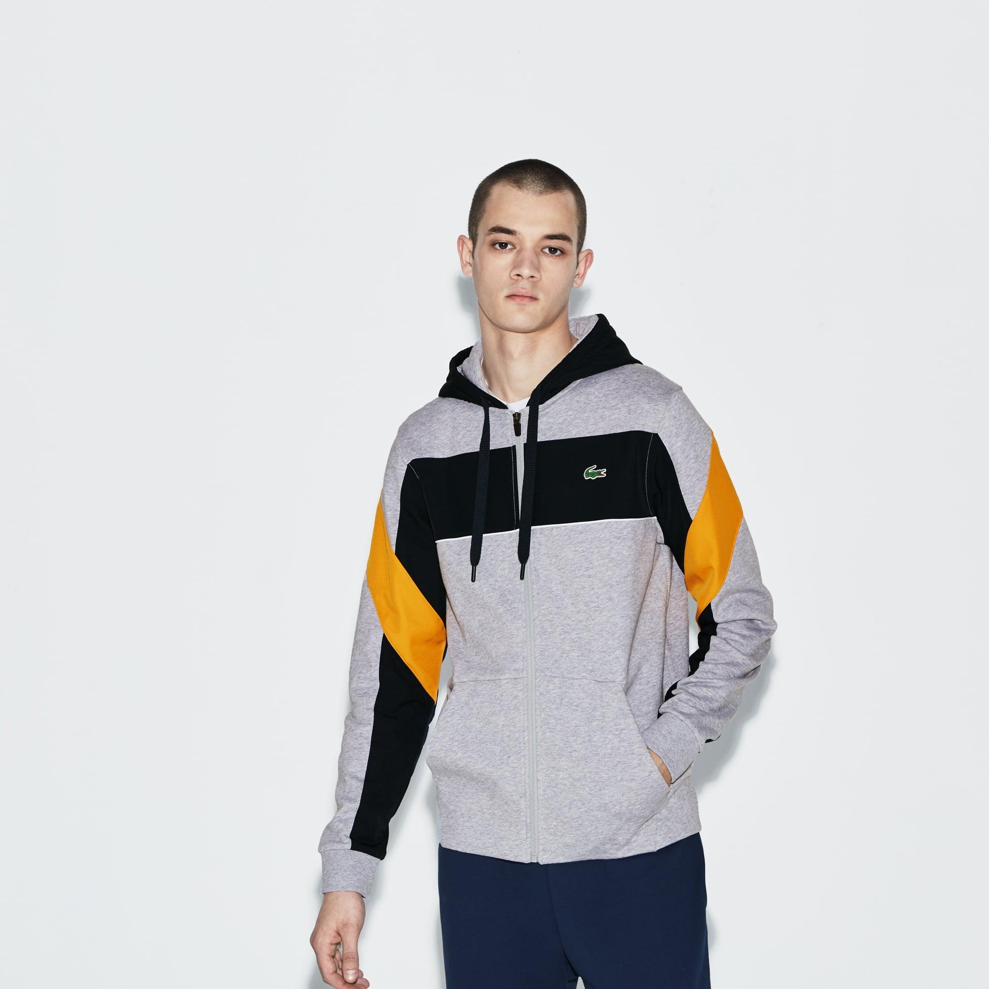 Men's SPORT Hooded Zip Colorblock Tennis Sweatshirt
