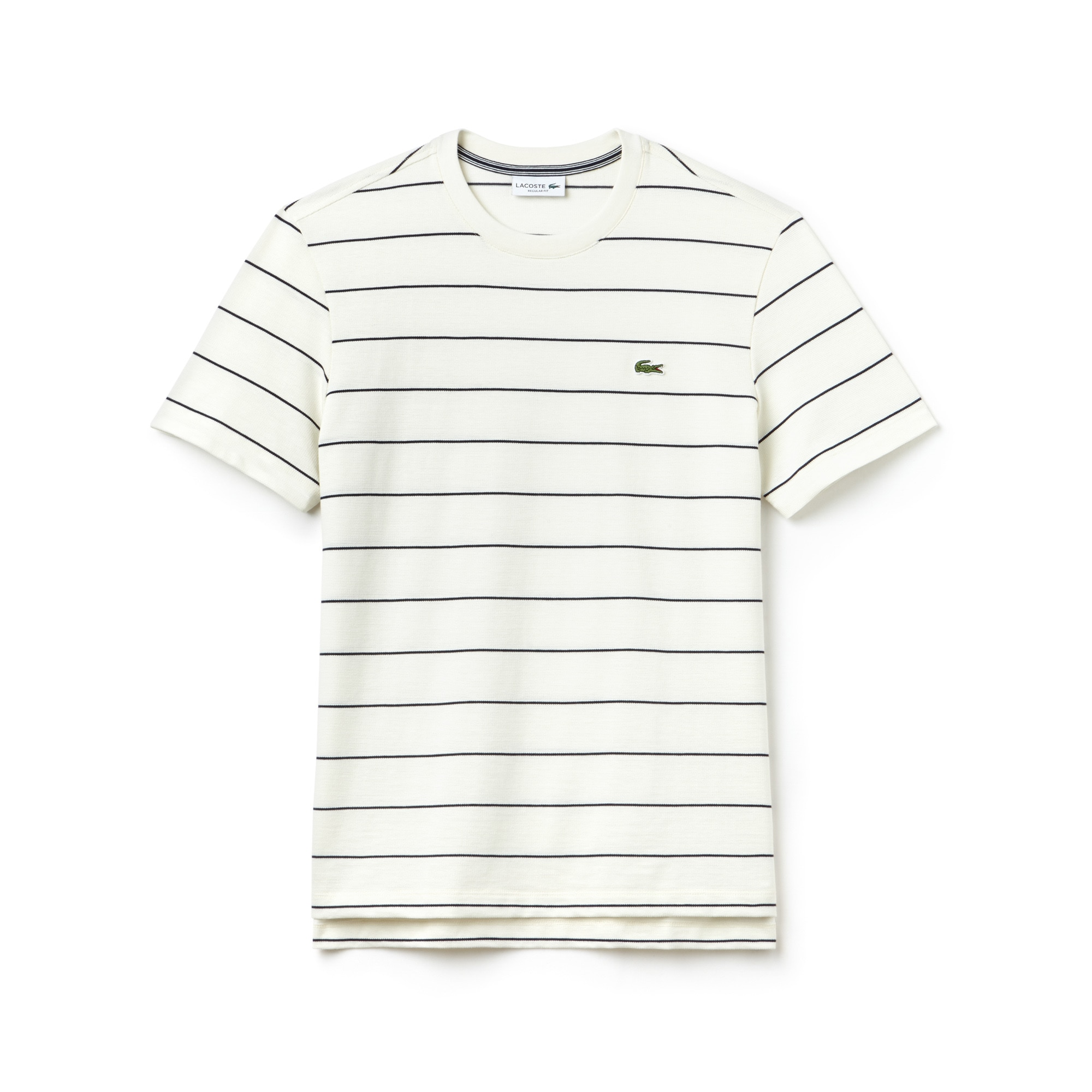 Men's Crew Neck Striped Cotton And Jersey T-shirt