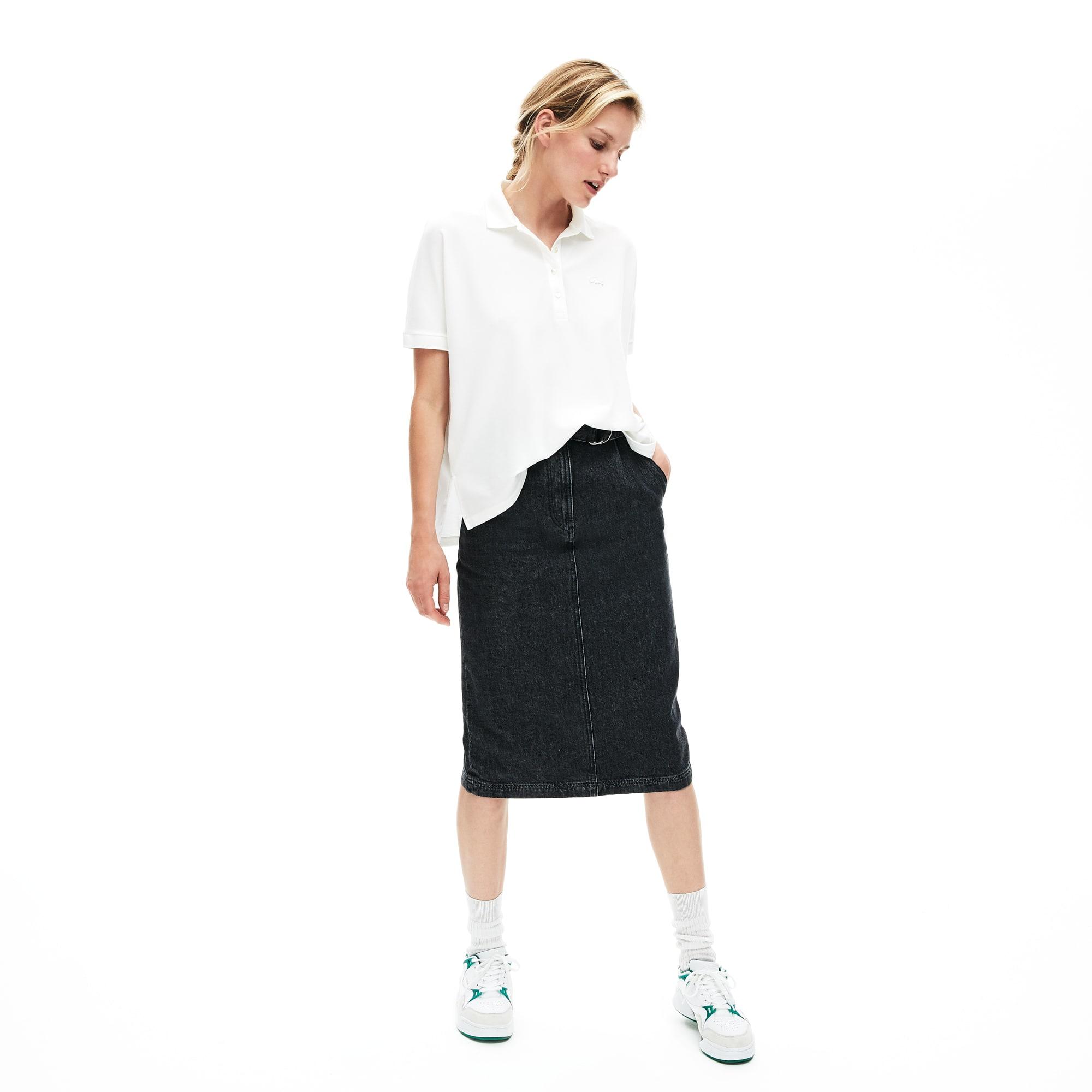 196000b5e0fa3 Women s Modern Fit Flowing Stretch Cotton Piqué Polo