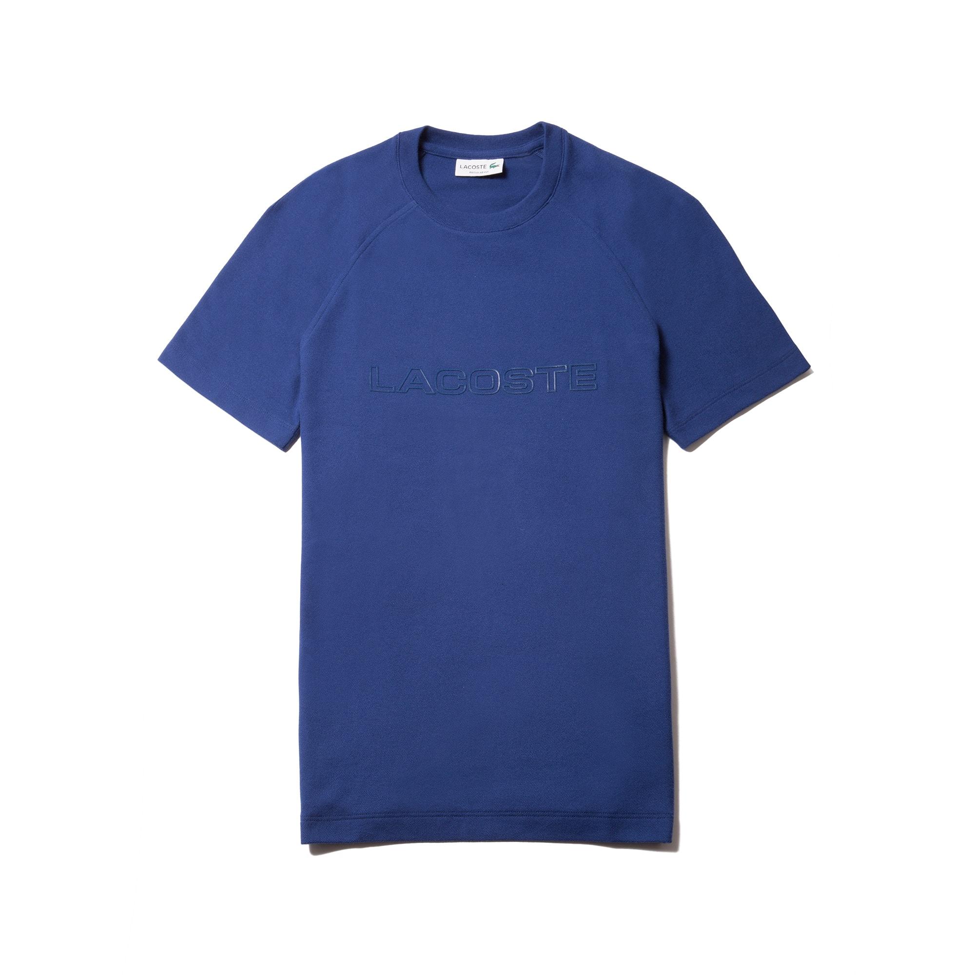 Men's Crew Neck Piqué T-shirt With Lacoste 3D Branding