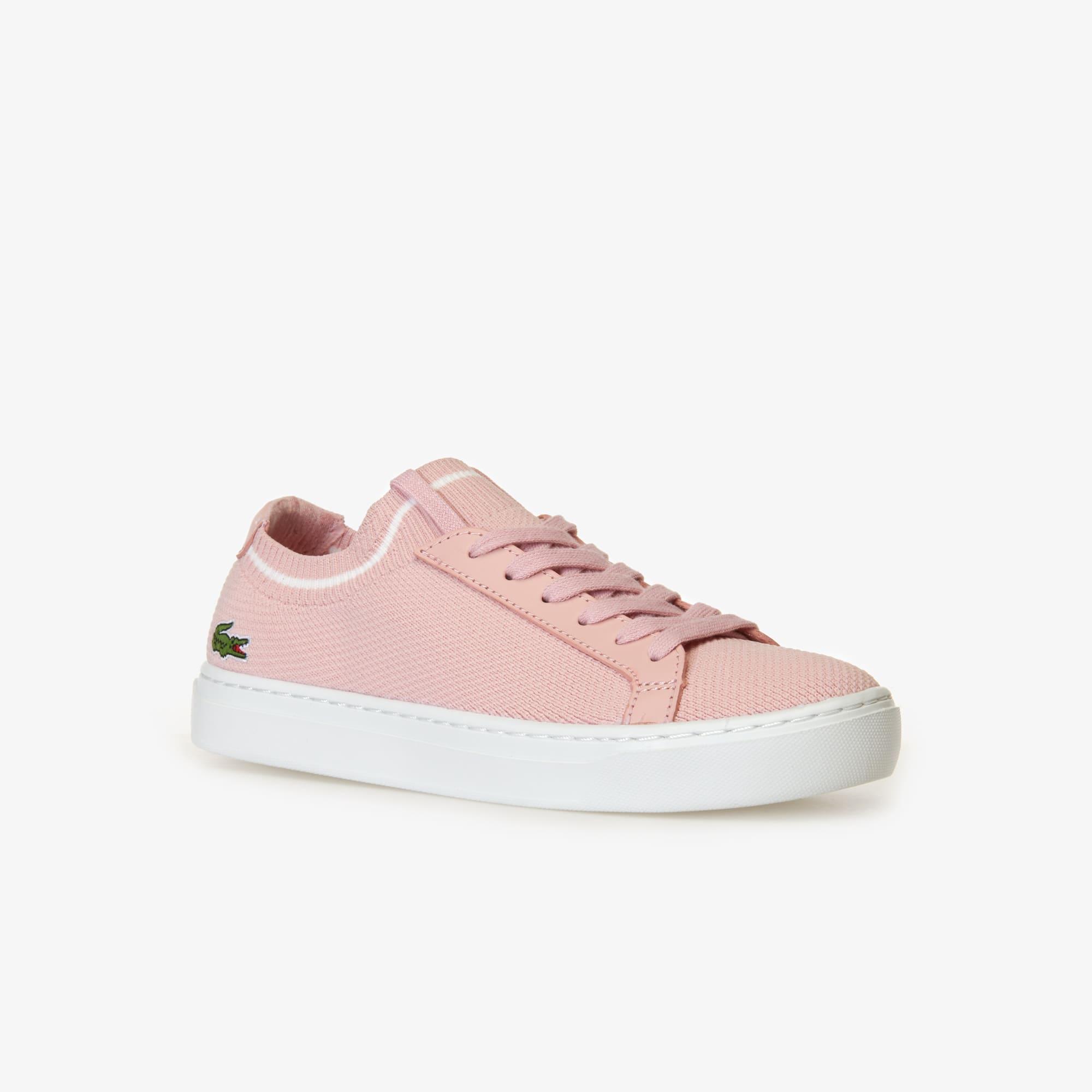 라코스테 우먼 라 피케 스니커즈 - 라이트 핑크/화이트 Lacoste Womens La Piquee Textile Trainers,light pink/white