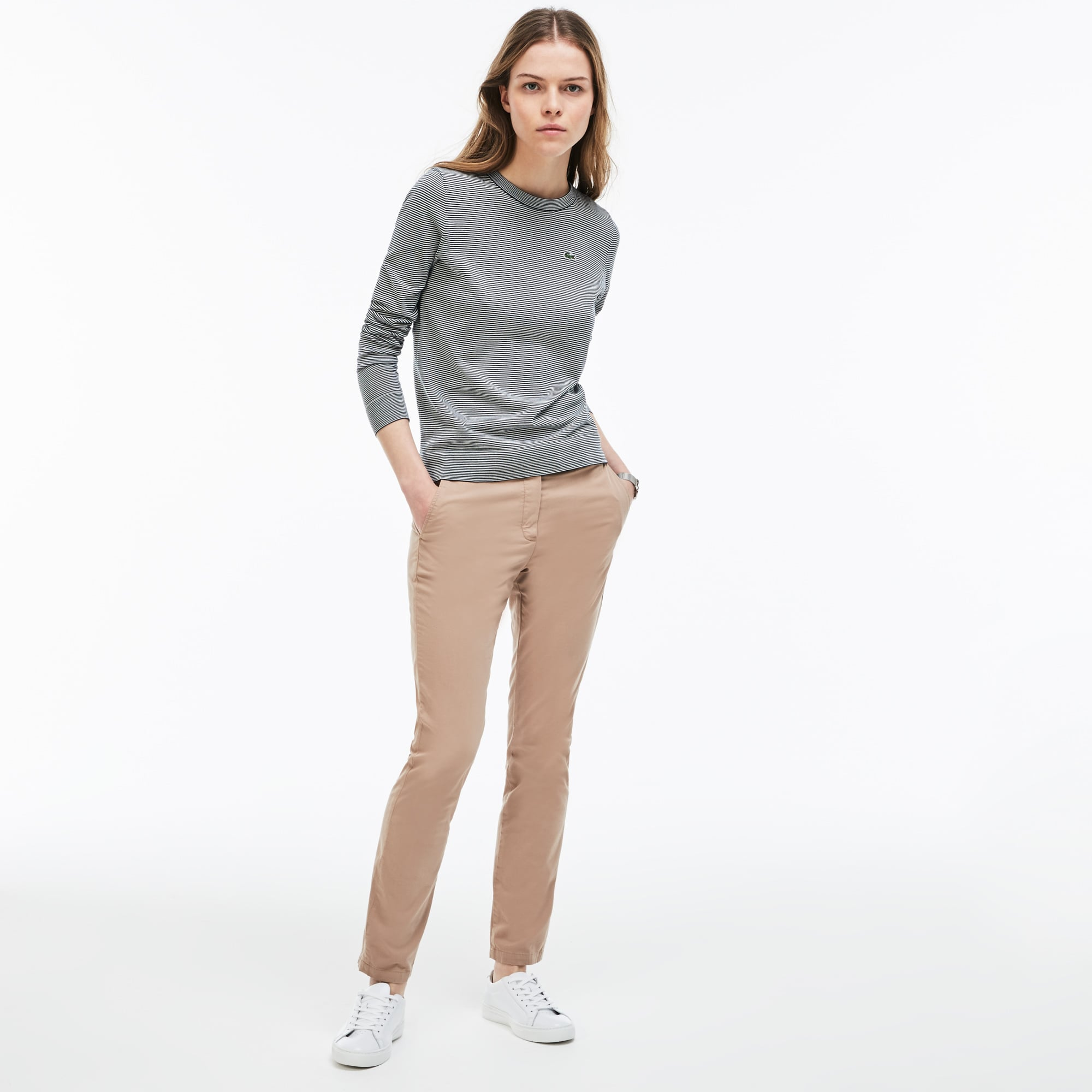Women's Regular Fit Pleated Pants