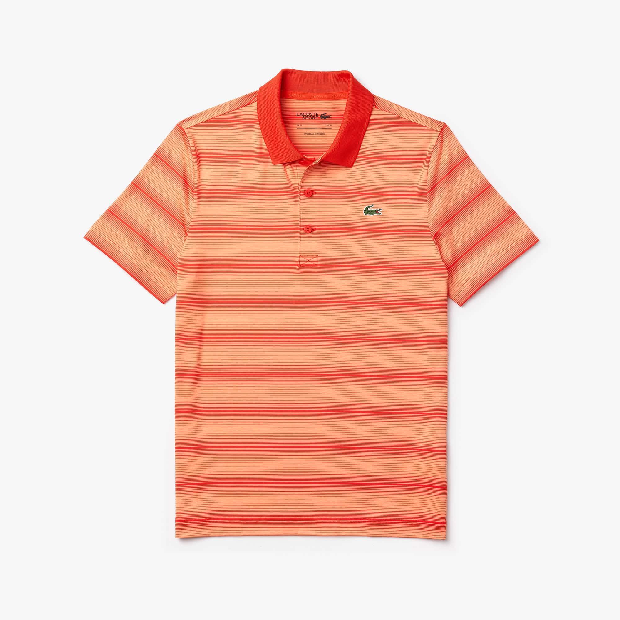Polo Lacoste SPORT para golf a rayas en jersey transpirable para hombre
