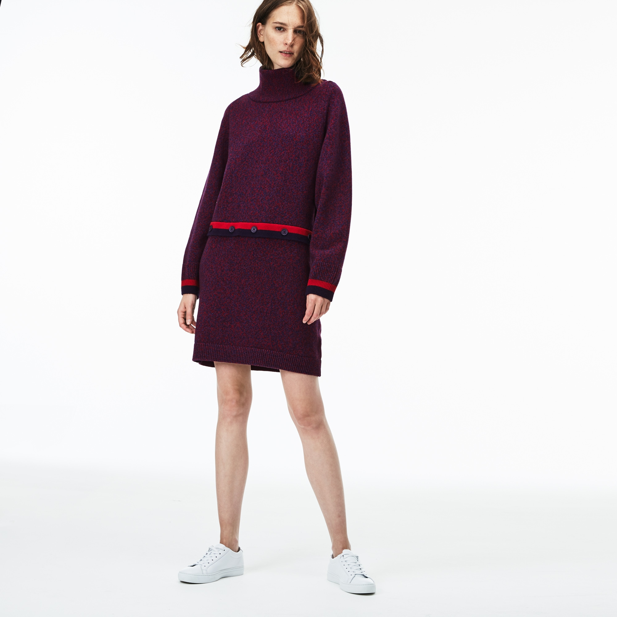 Women's Made In France Contrast Accents Jersey Sweater Dress