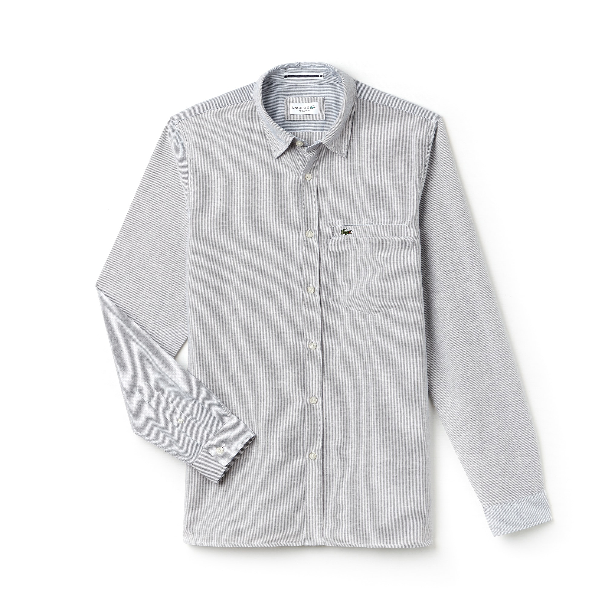 Men's Regular Fit Poplin And Linen Shirt