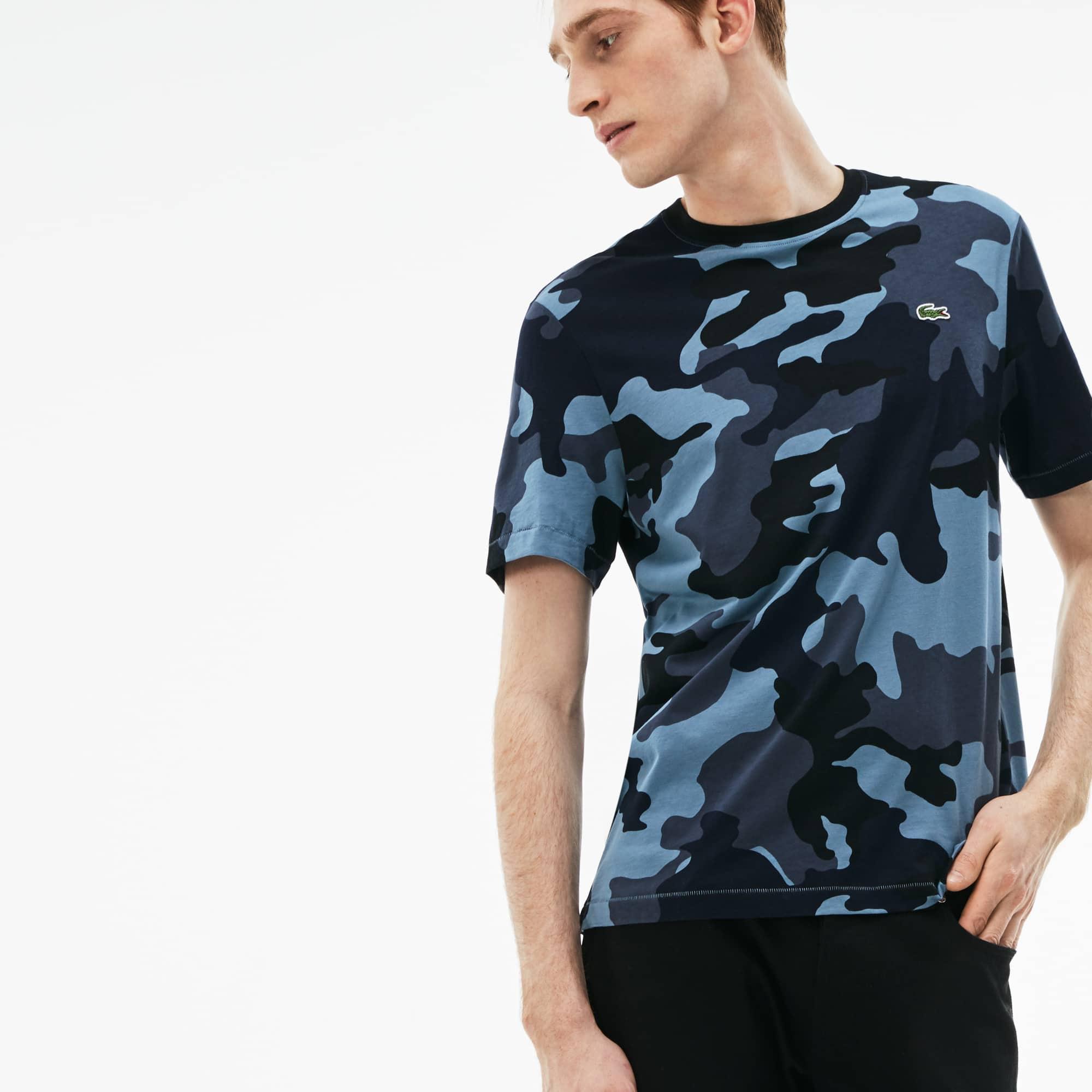 Men's LIVE Crew Neck Camouflage Print Jersey T-shirt