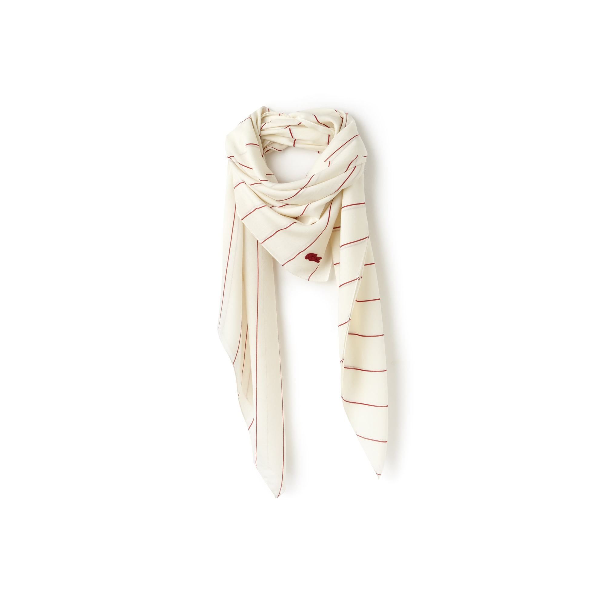 Women's Striped Square Voile Scarf