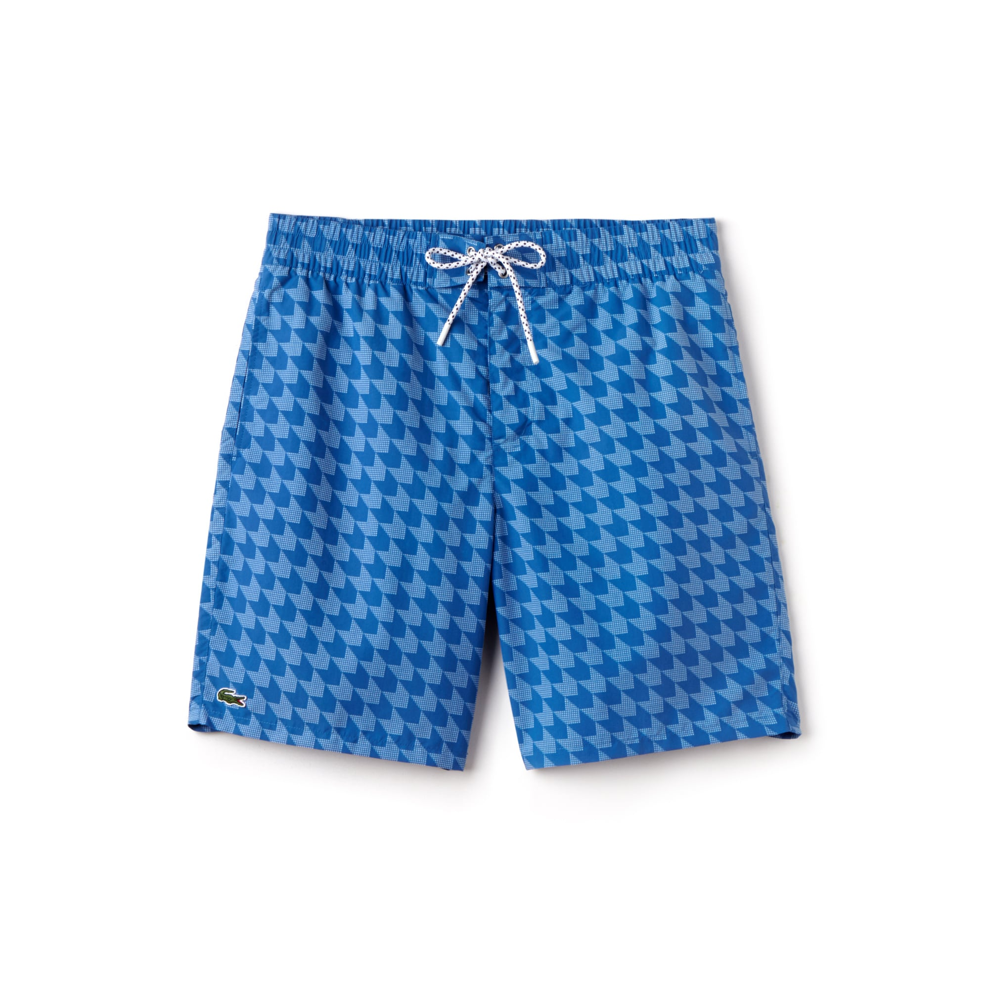 Men's Long Cut Houndstooth Print Swimming Trunks