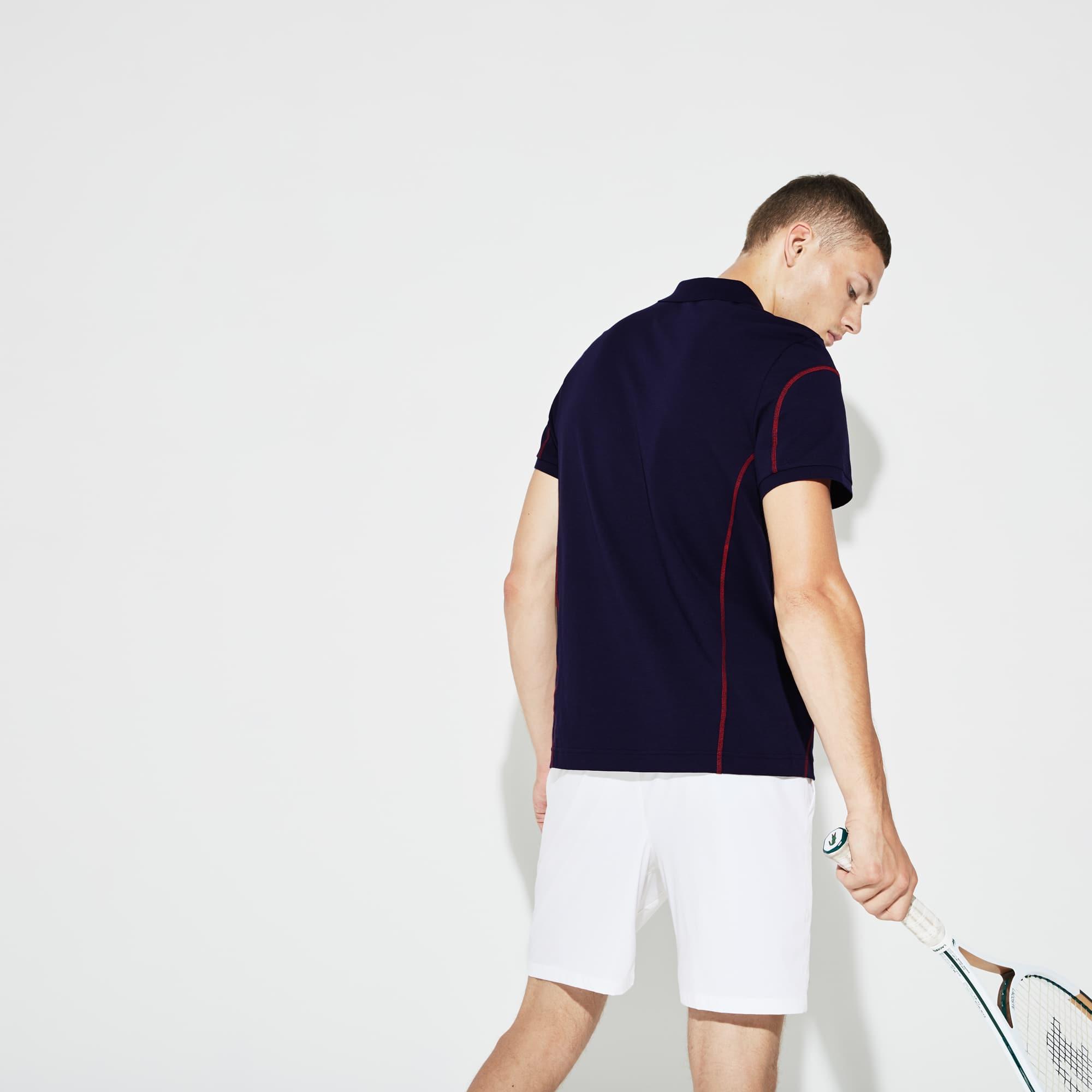 Tennis Stitching Cotton Light Sport Men's PoloLacoste Contrast IE2HWYD9