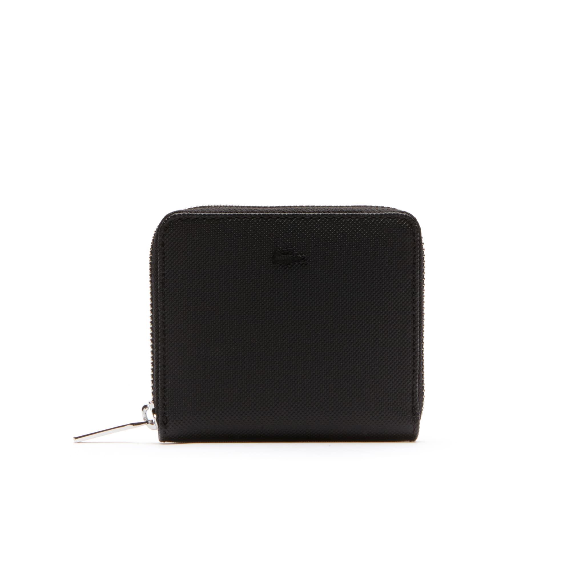 Men's Classic Petit Piqué 3 Card Zip Wallet