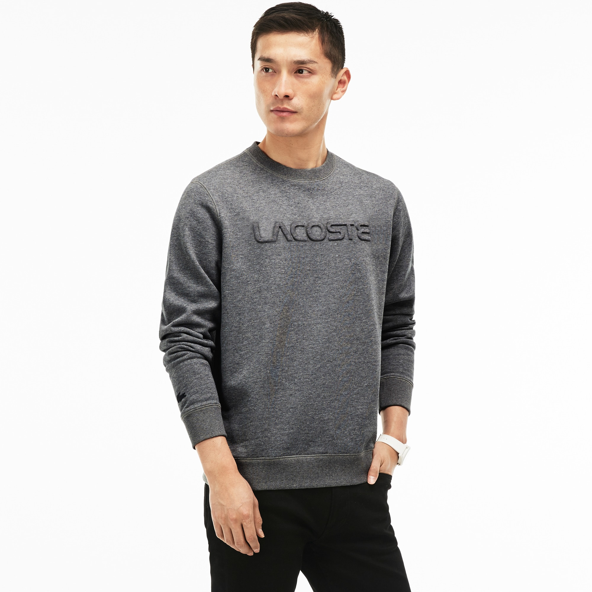 Men's LACOSTE Lettering Fleece Sweatshirt