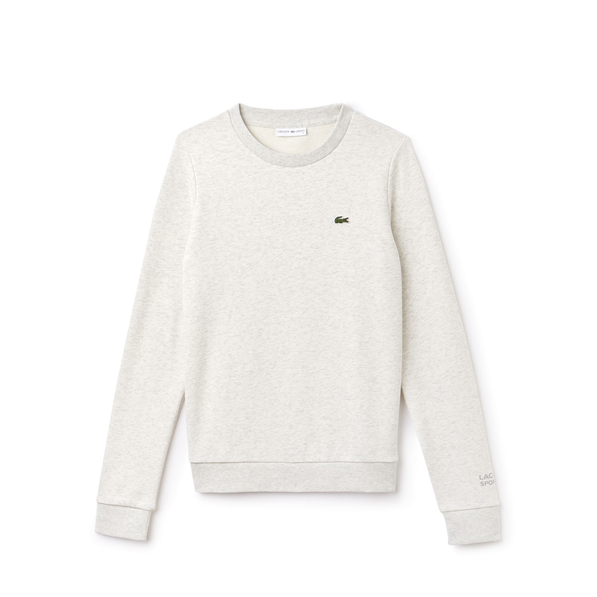 라코스테 스포츠 테니스 코튼 플리스 스웻셔츠 Lacoste Womens SPORT Tennis Cotton Fleece Sweatshirt, alpes grey chine SF7975-51