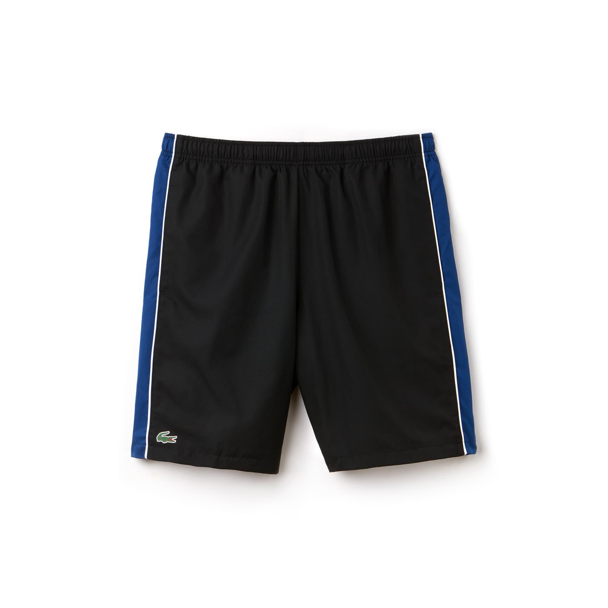 라코스테 스포츠 반바지 Lacoste Mens SPORT Colorblock Shorts - Novak Djokovic Collection,black/marino-white
