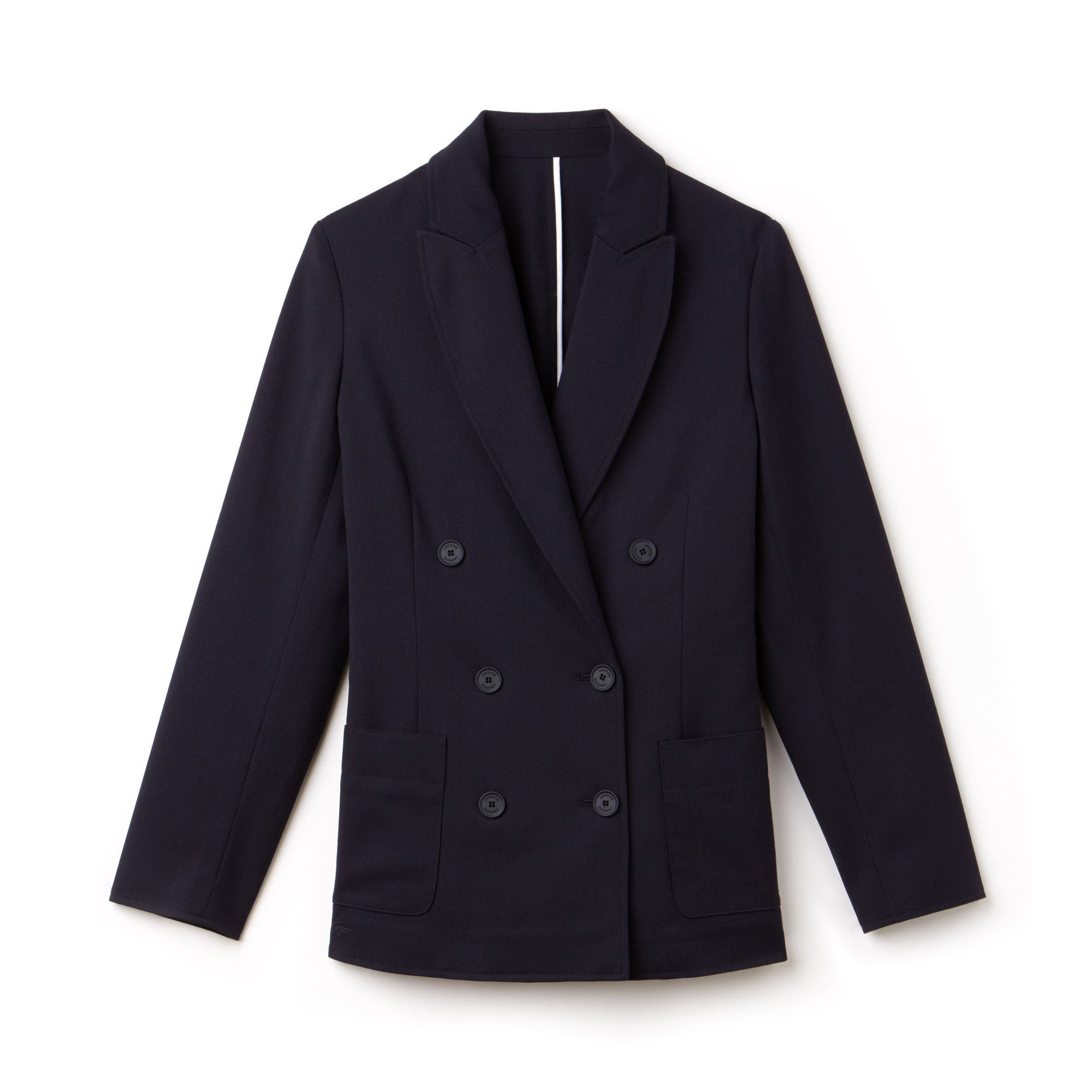 Women's Contrast Accents Stretch Wool Piqué Blazer