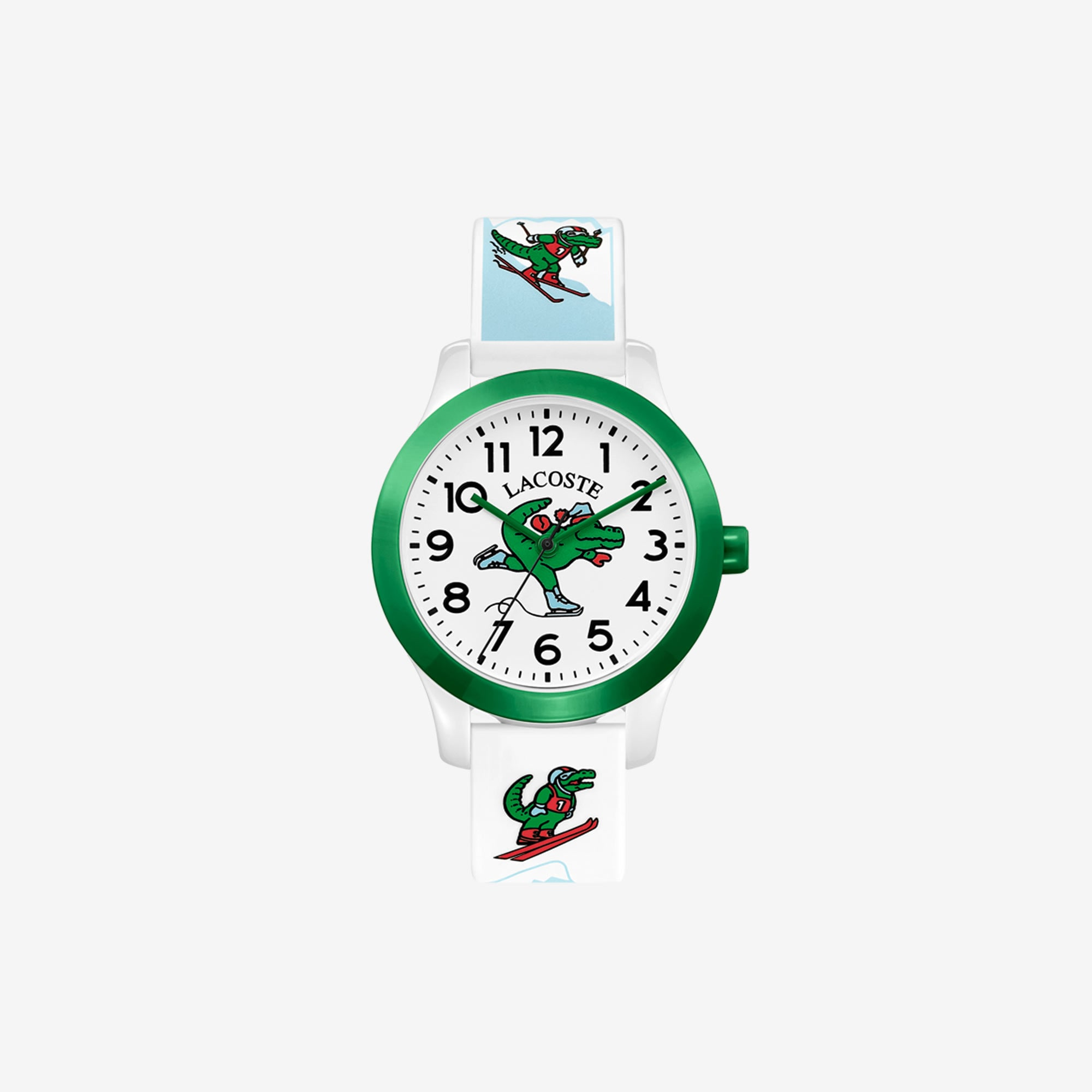 Kids Lacoste 12.12 Watch with White Silicone Petit Piqué Strap