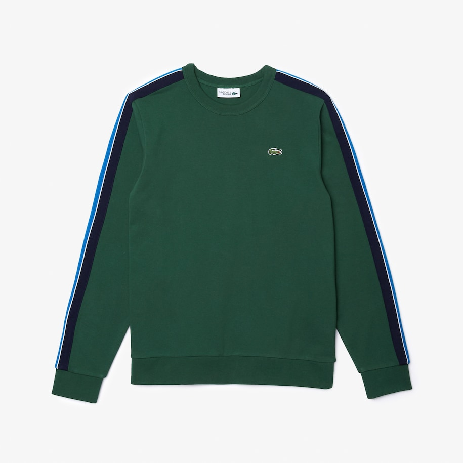 Men's Lacoste SPORT Contrast Bands Fleece Sweatshirt