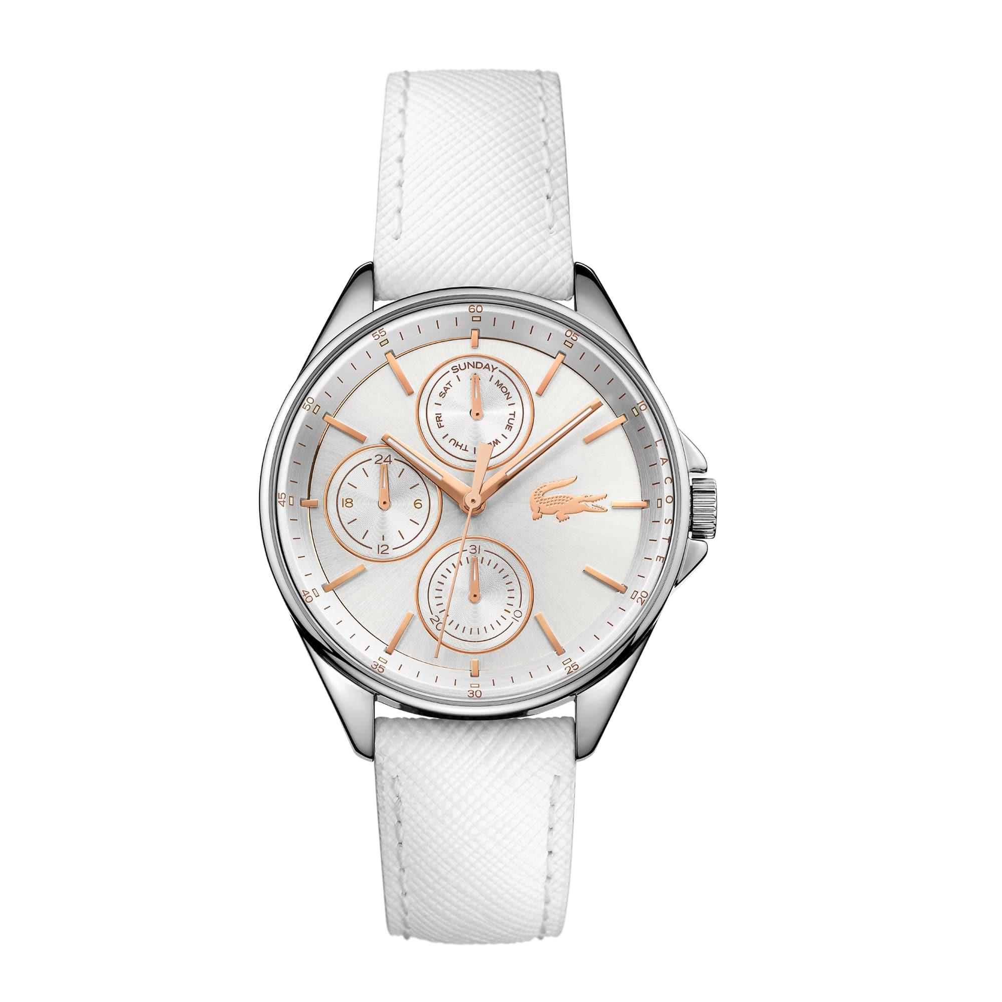 Women's Philadelphia White Leather Strap Watch